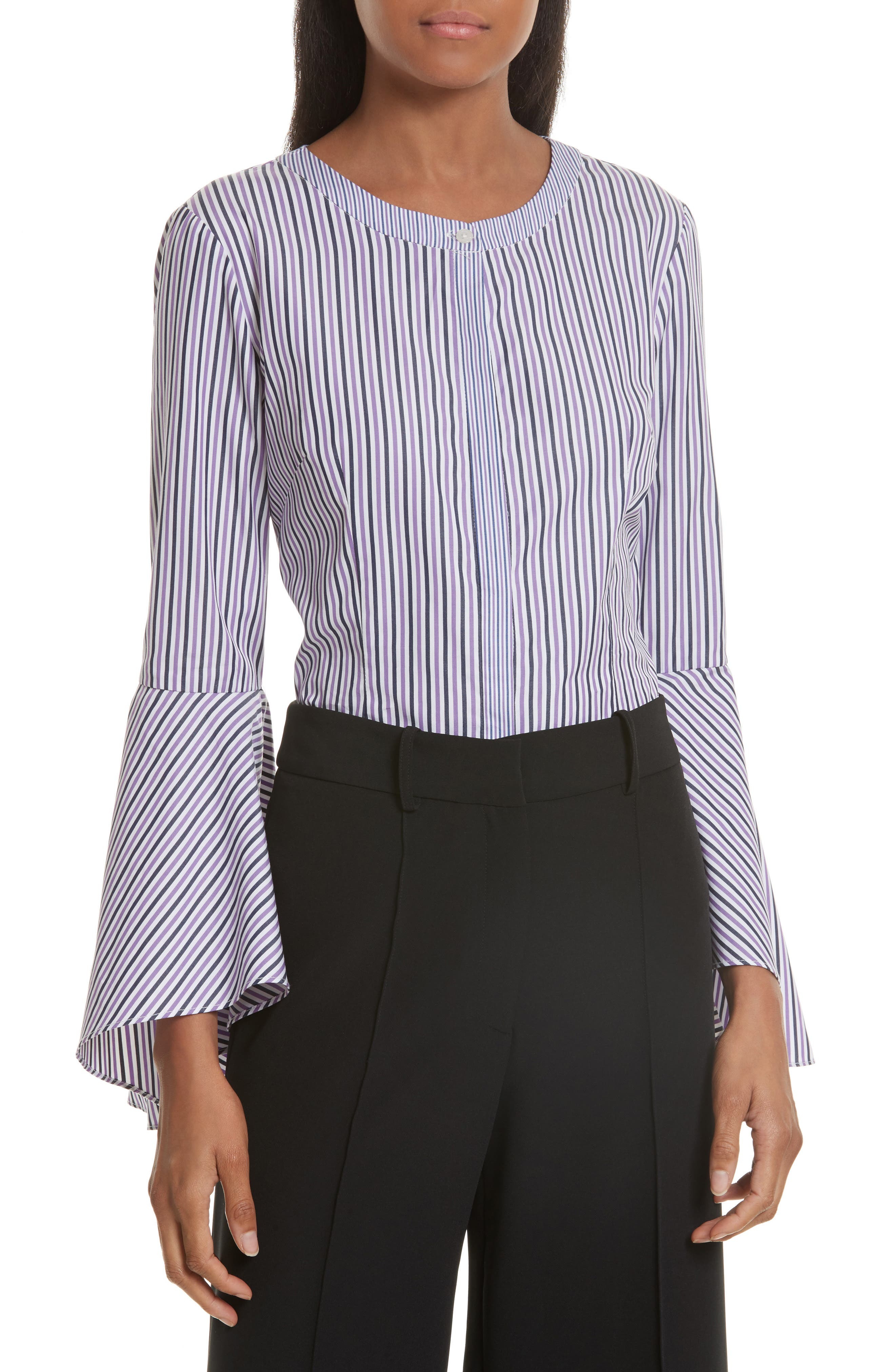Milly Stripe Shirting Blouse