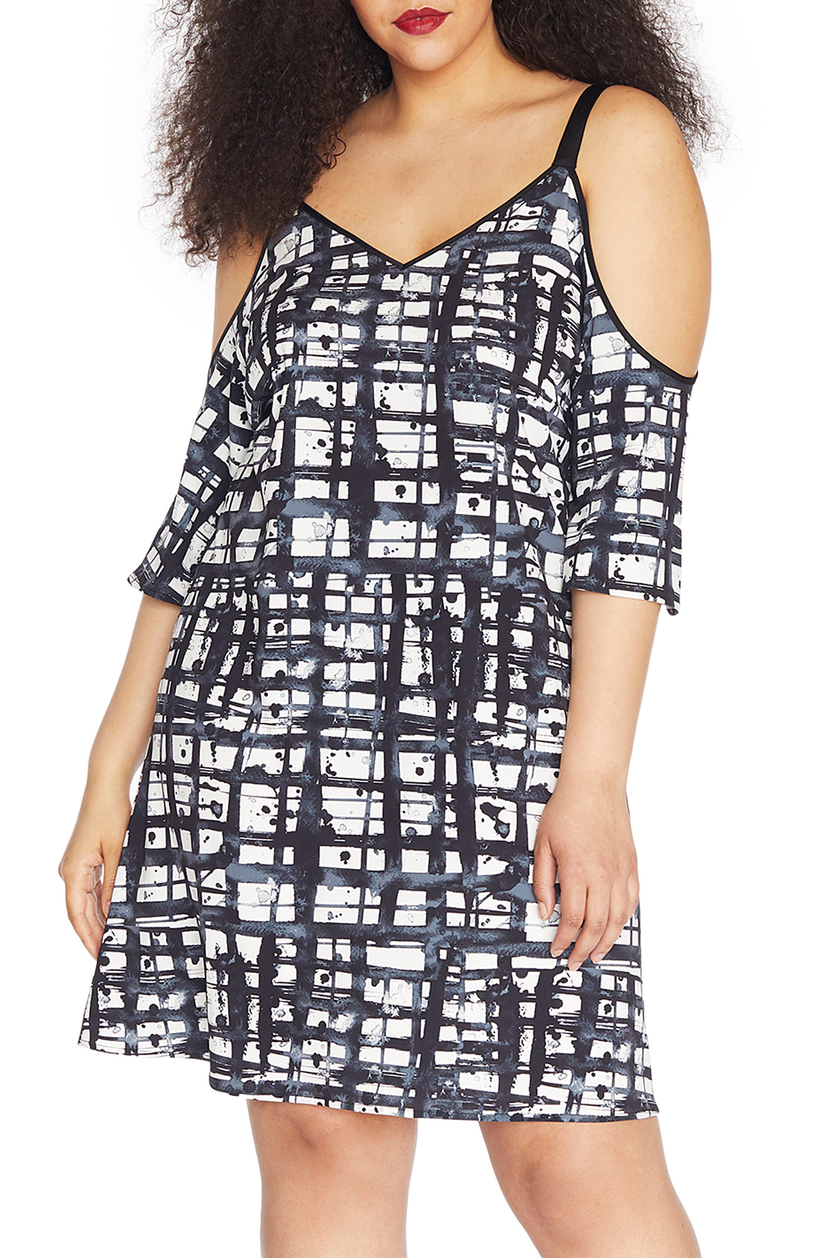 REBEL WILSON X ANGELS Cold Shoulder Crepe Dress (Plus Size)