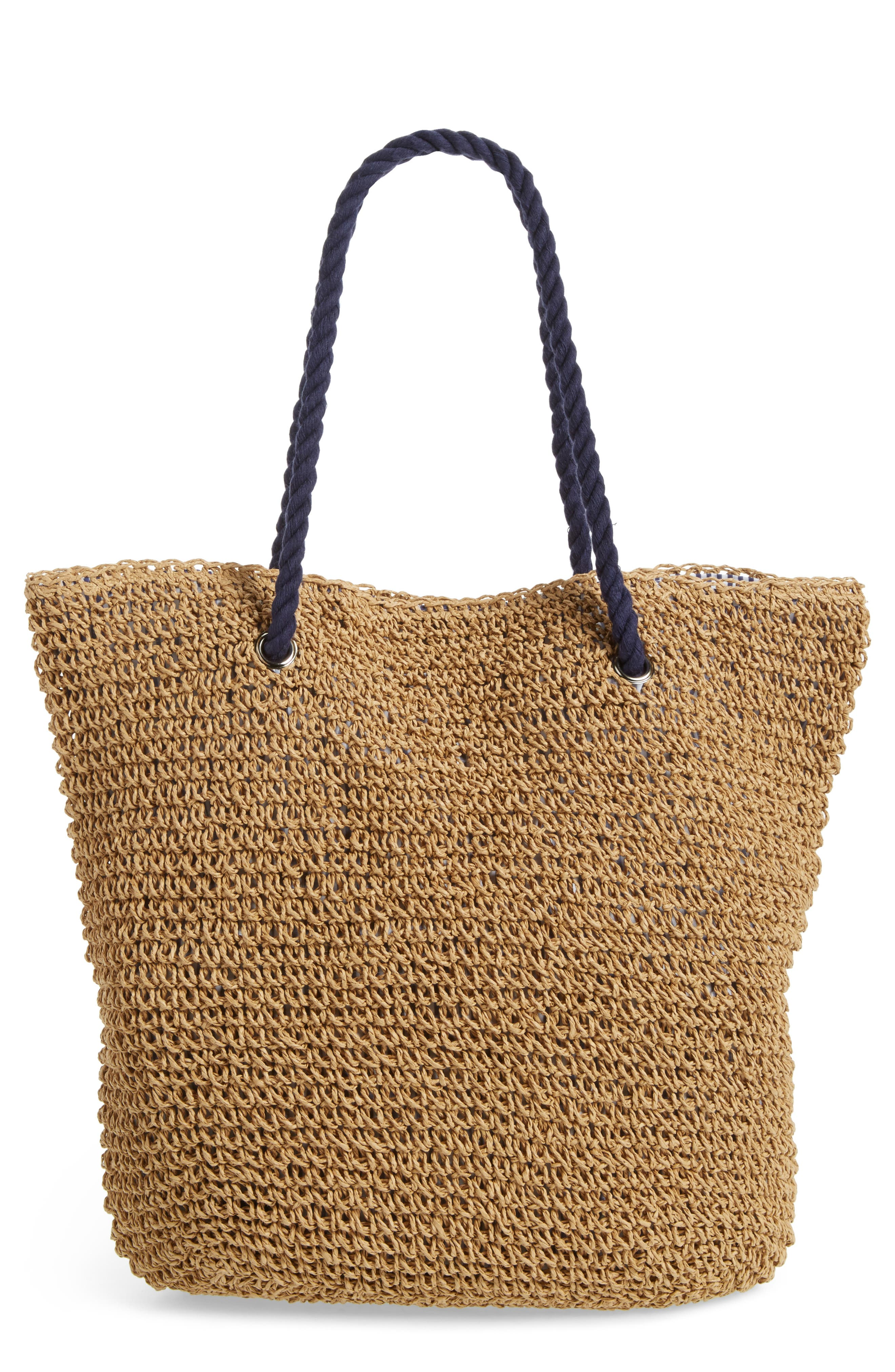 BP. Rope Handle Woven Tote