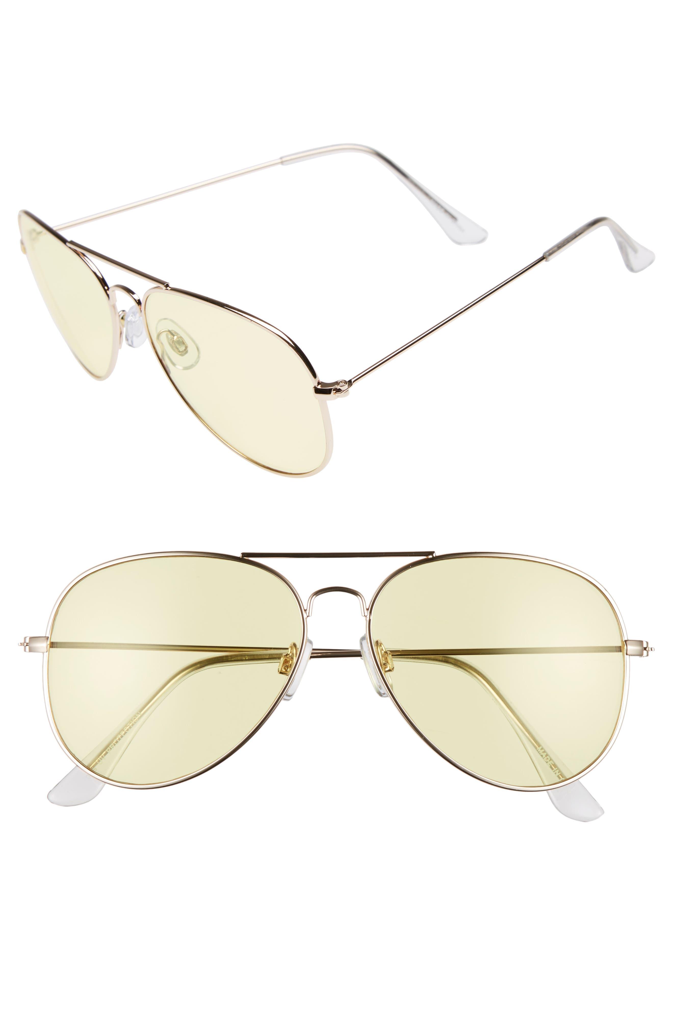 BP. 67mm Colored Aviator Sunglasses