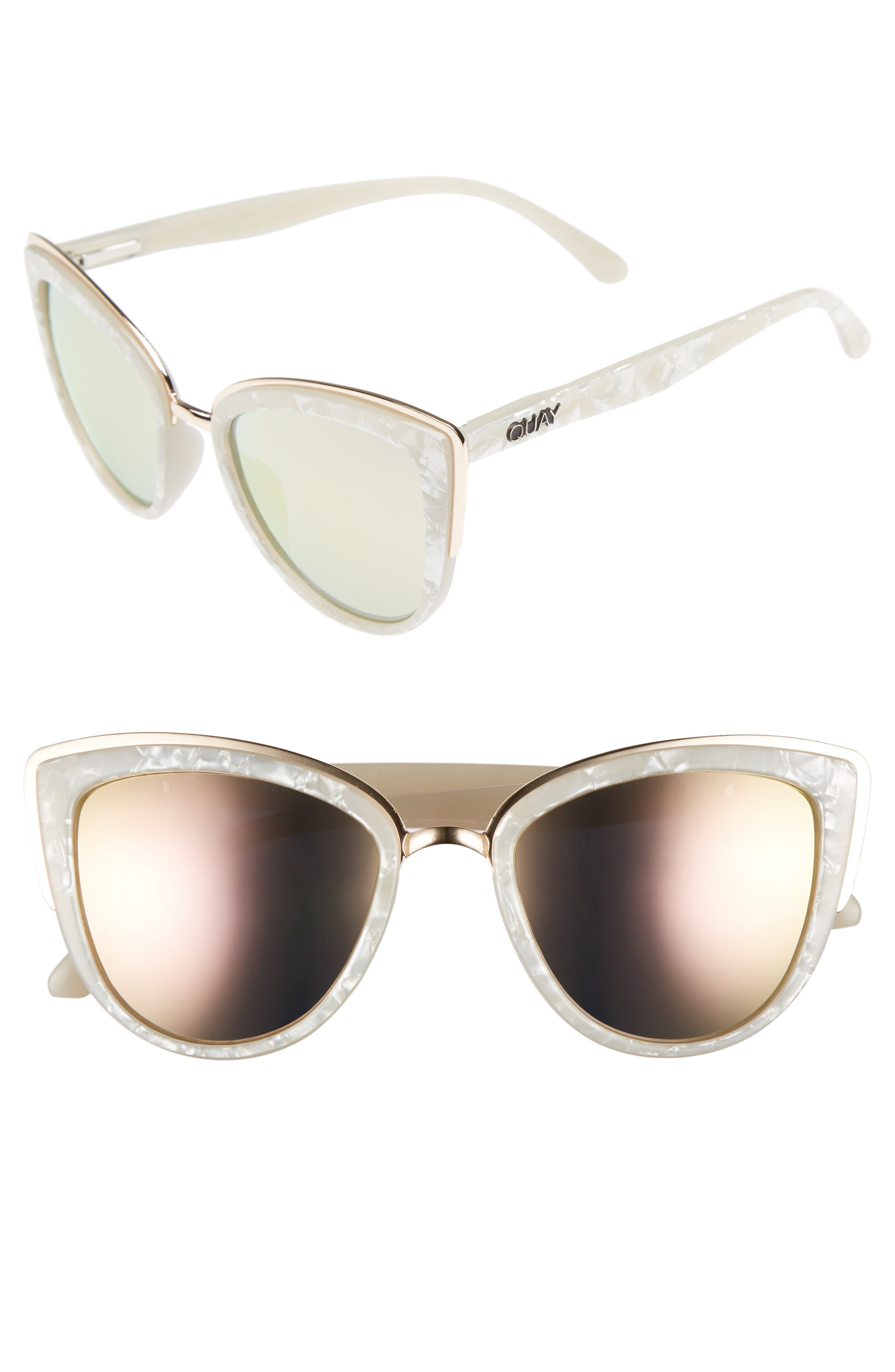 Quay Australia 'My Girl' 50mm Cat Eye Sunglasses