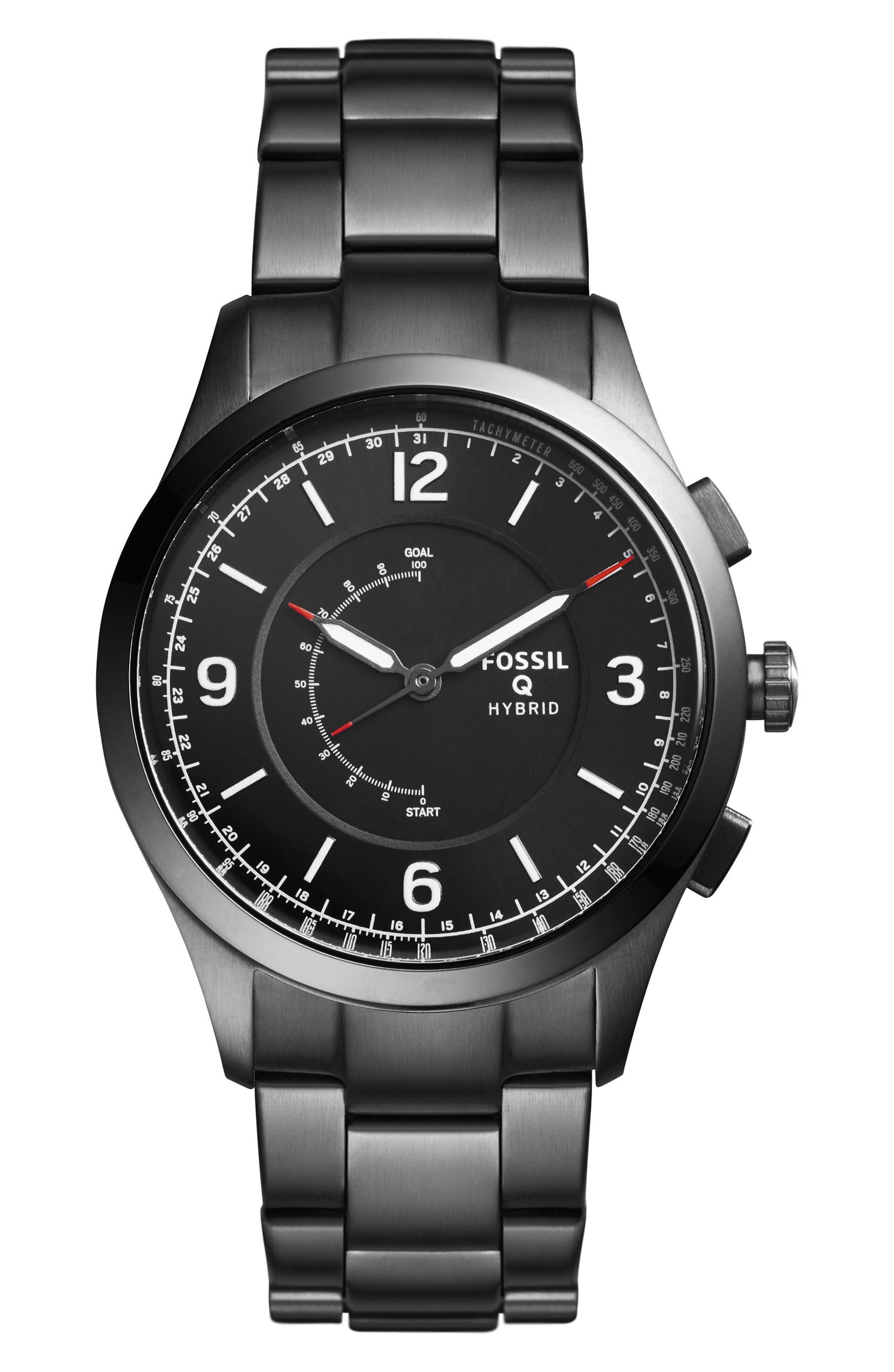 Fossil Q Activist Hybrid Bracelet Watch, 42mm