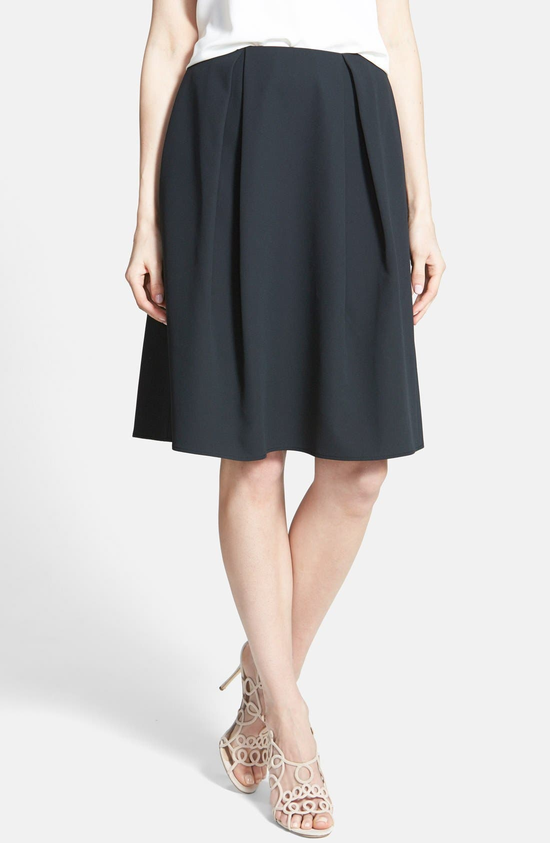 Alternate Image 1 Selected - Chelsea28 Pleated A-Line Skirt
