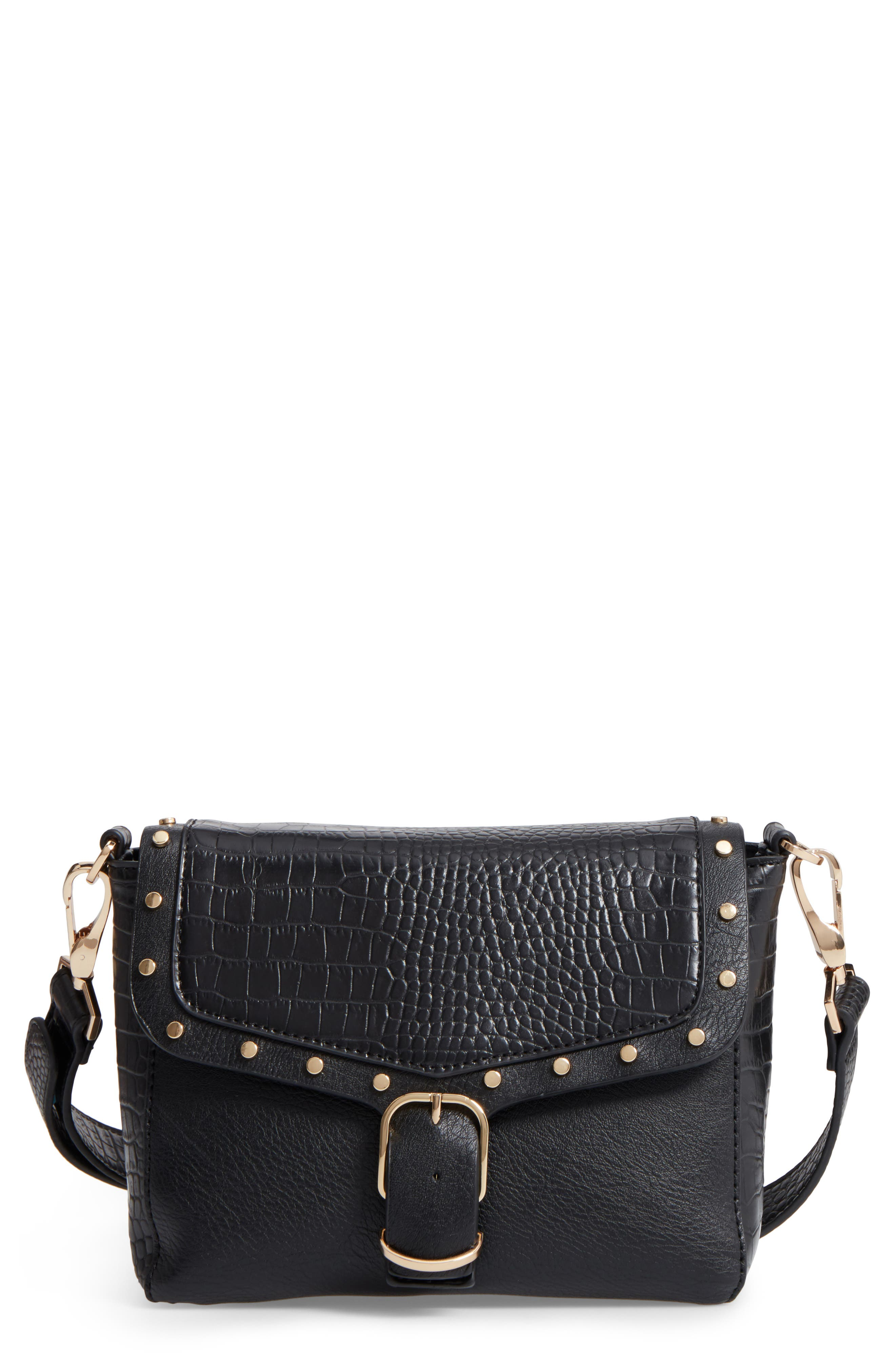 Topshop Romeo Embossed Faux Leather Crossbody Bag