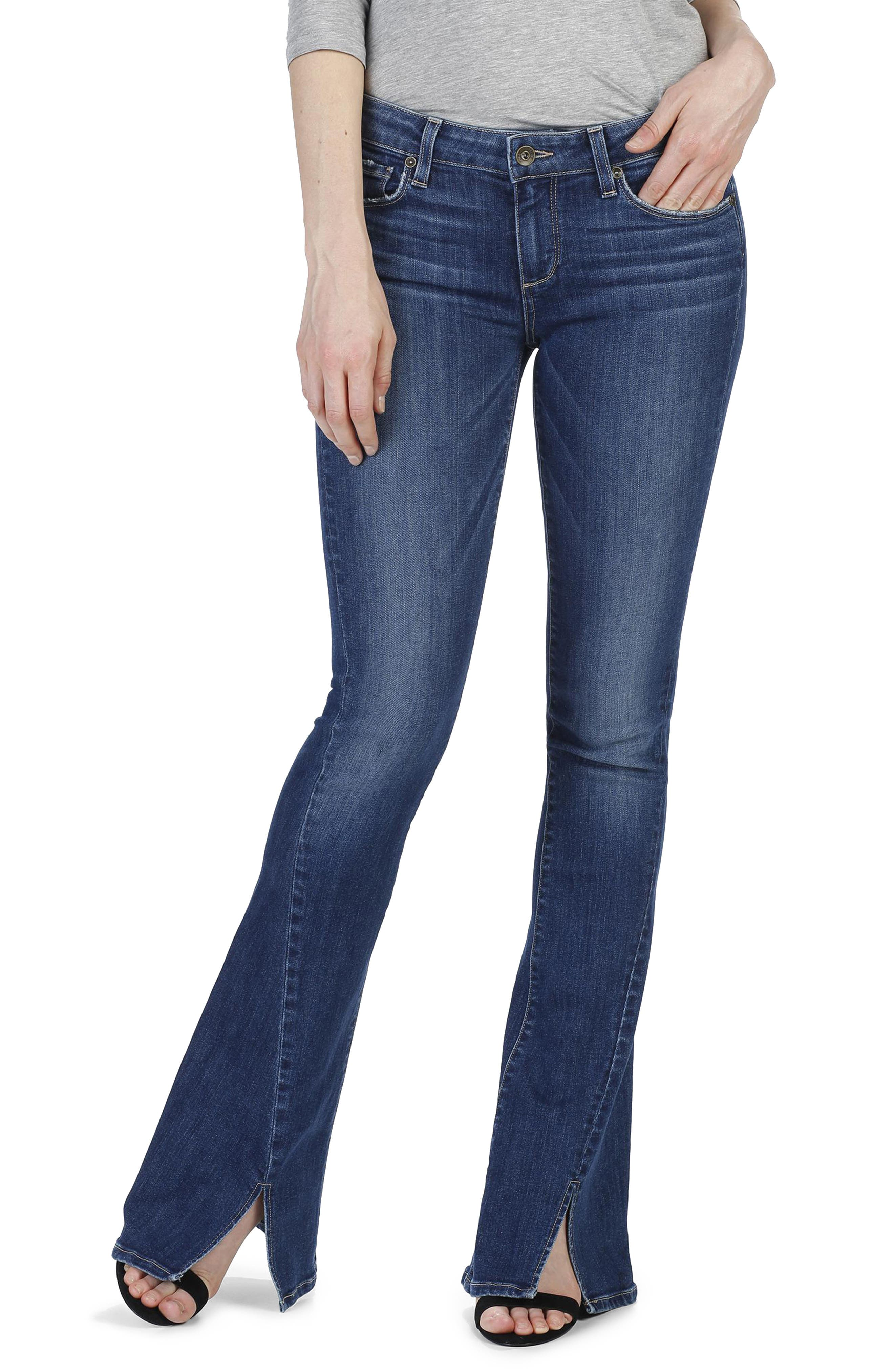 PAIGE Lou Lou Twisted Seam Flare Jeans (Mai)