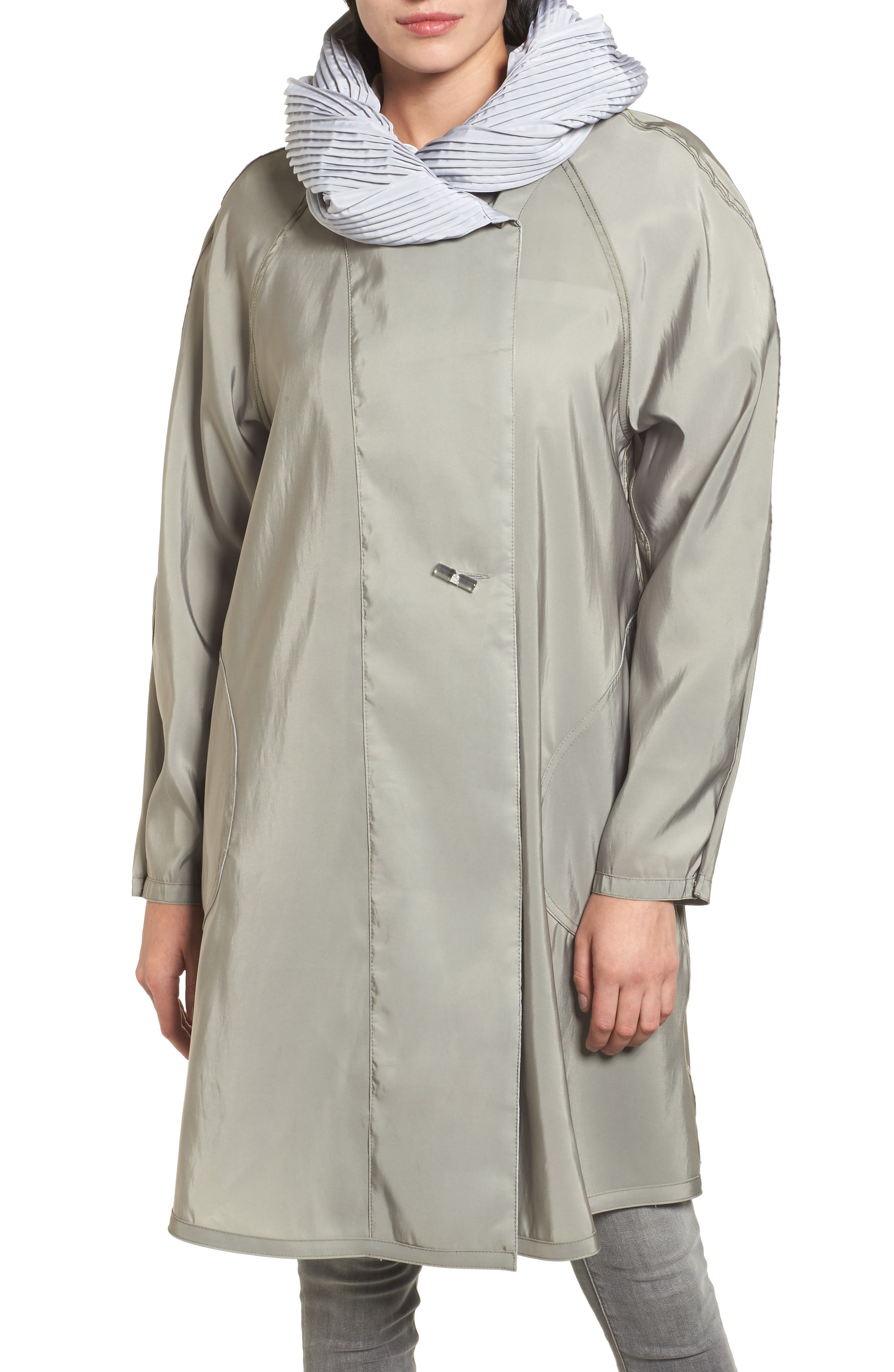 Alternate Image 4  - Mycra Pac Designer Wear Reversible Pleat Hood Packable Travel Coat