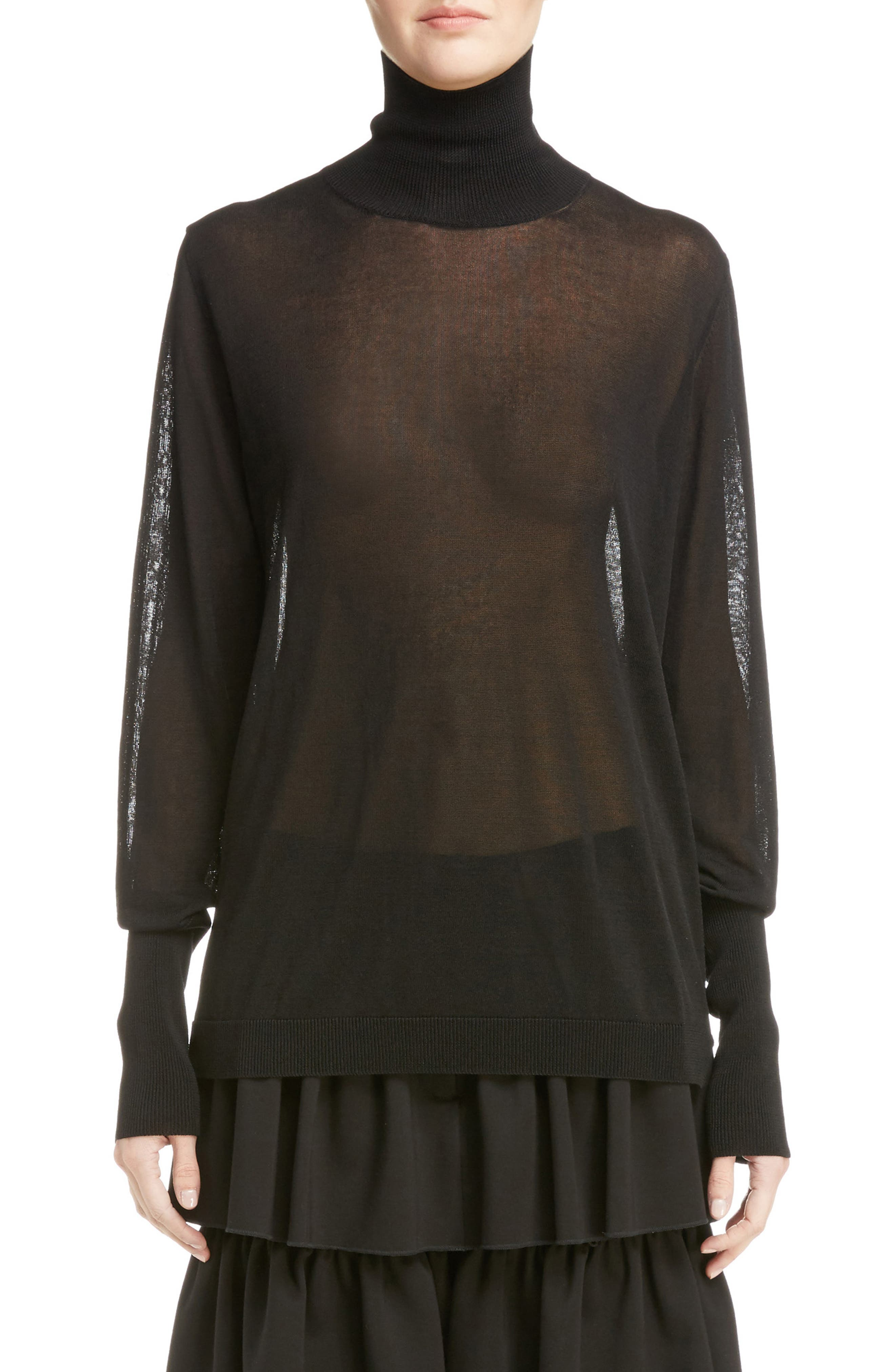 Simone Rocha Sheer Mock Neck Sweater