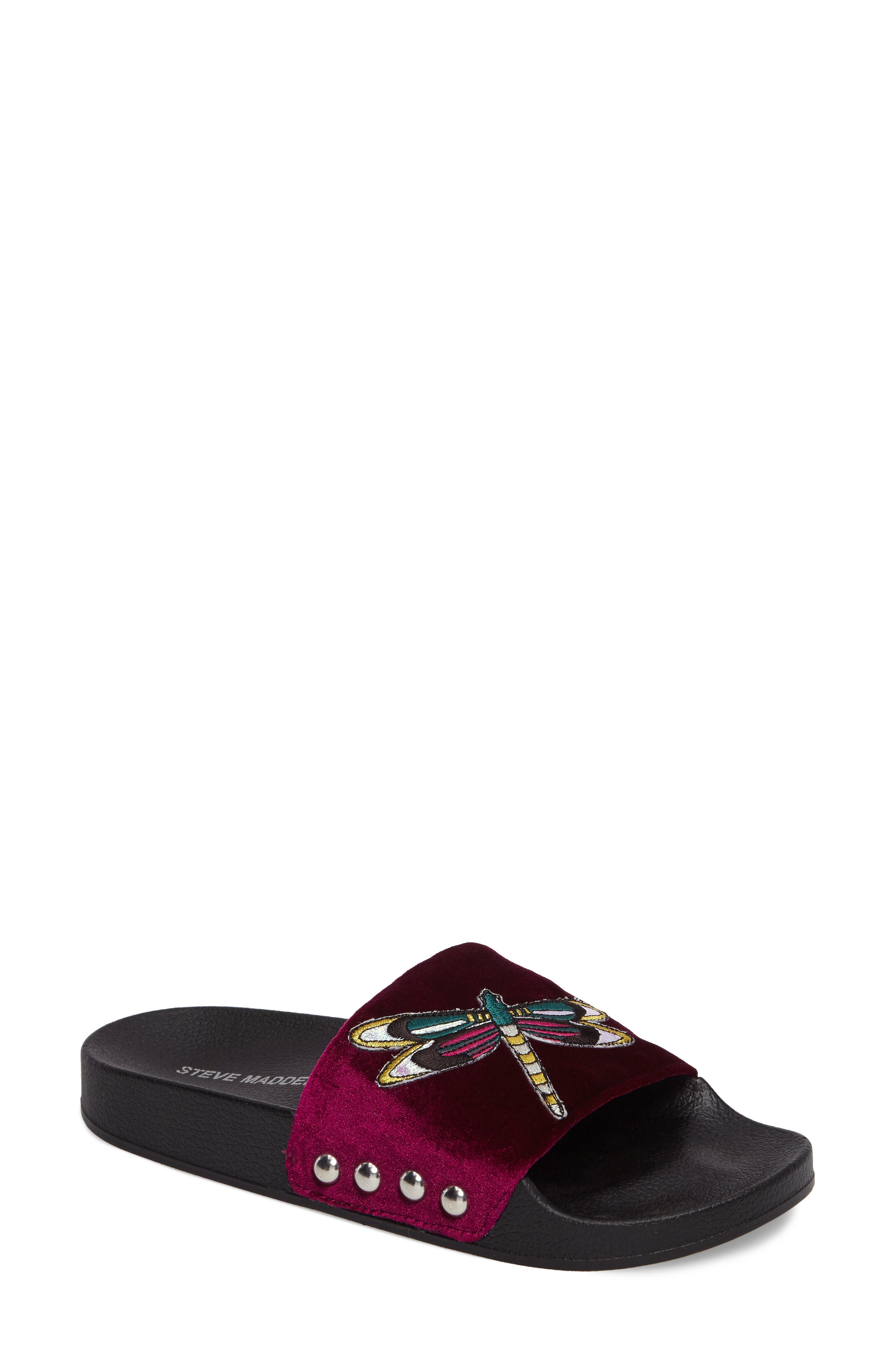 Steve Madden Patches Slide Sandal (Women)