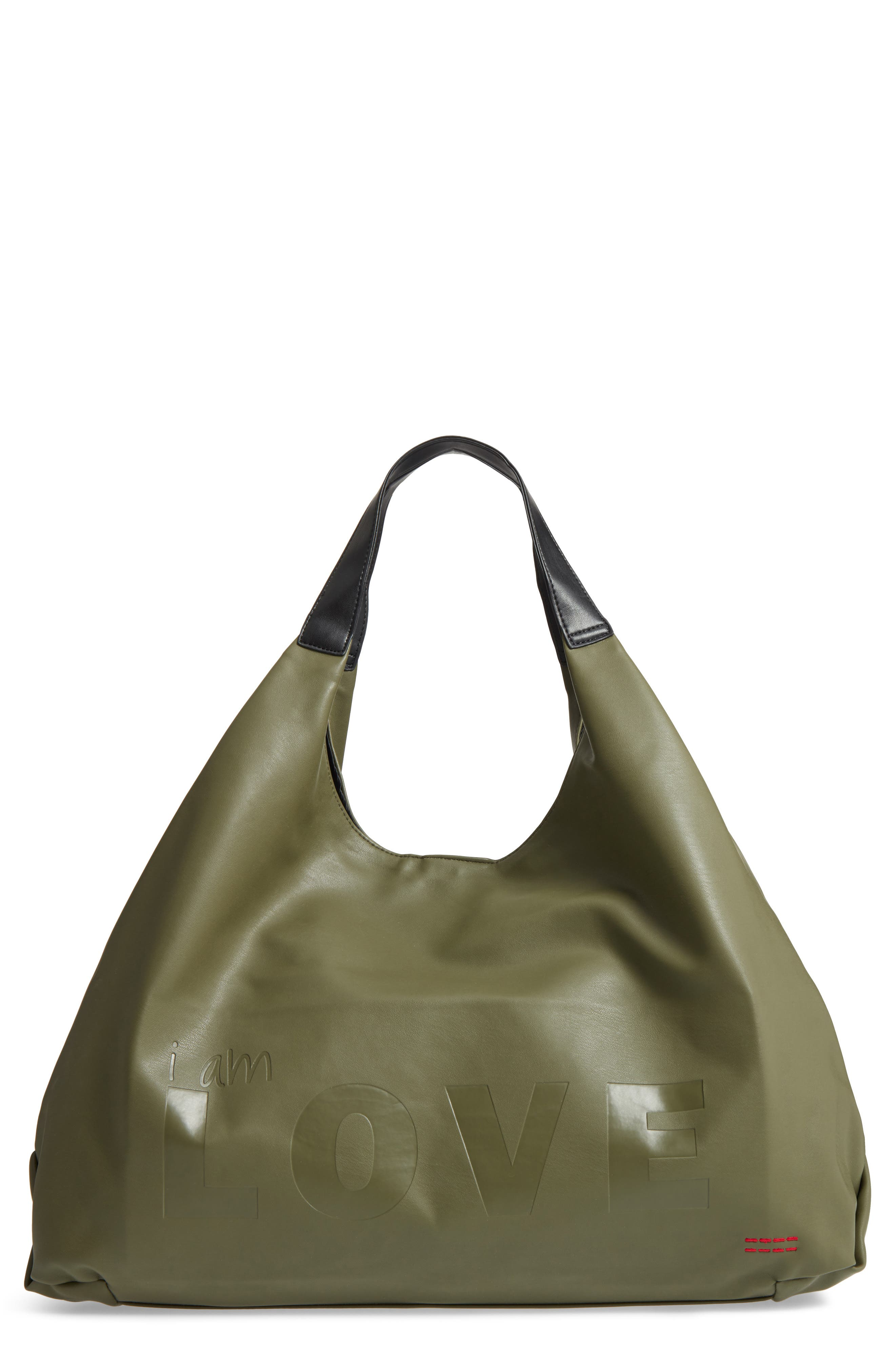 Peace Love World Slouchy Faux Leather Hobo