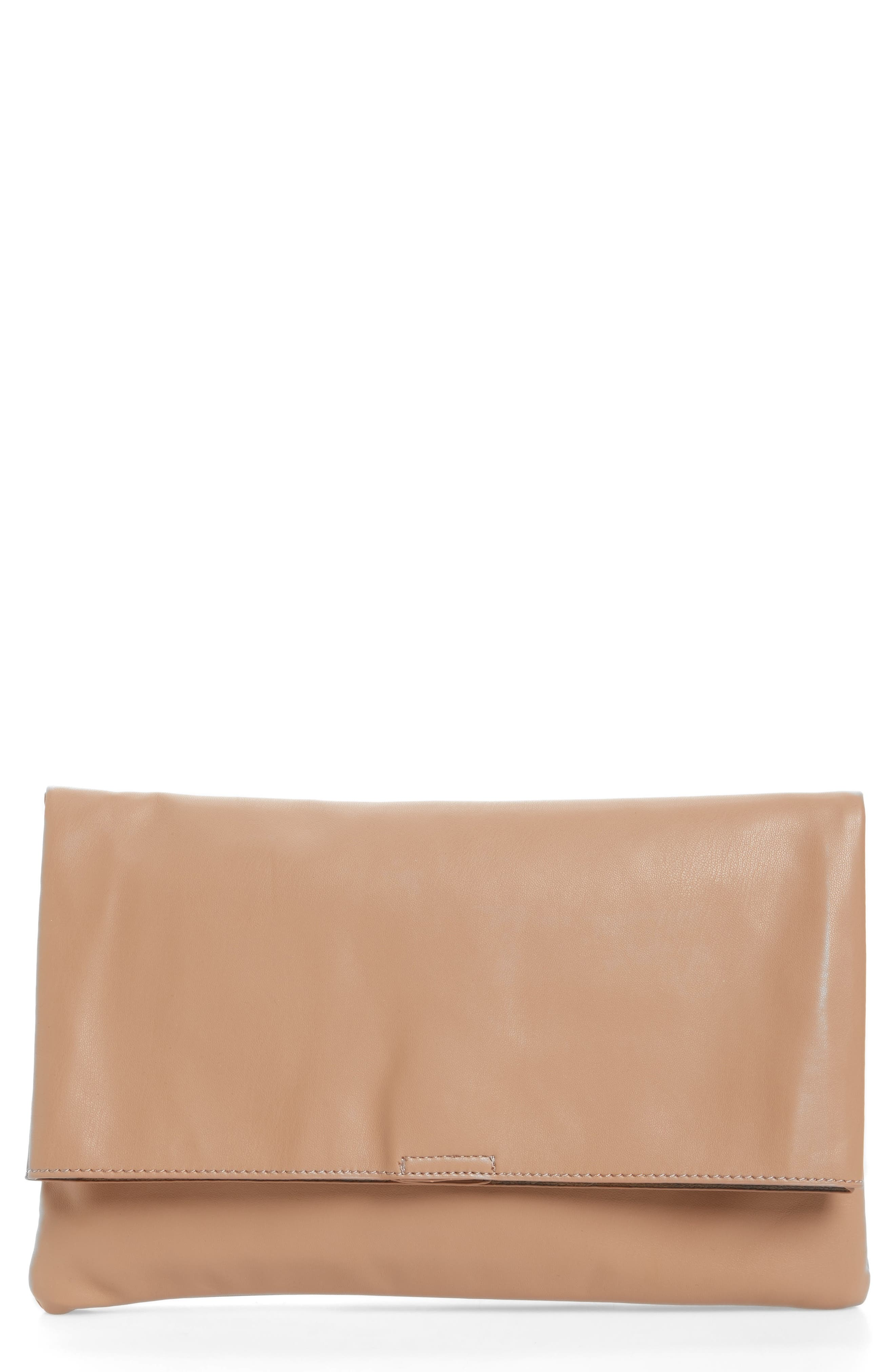 Sole Society Melrose Faux Leather Clutch