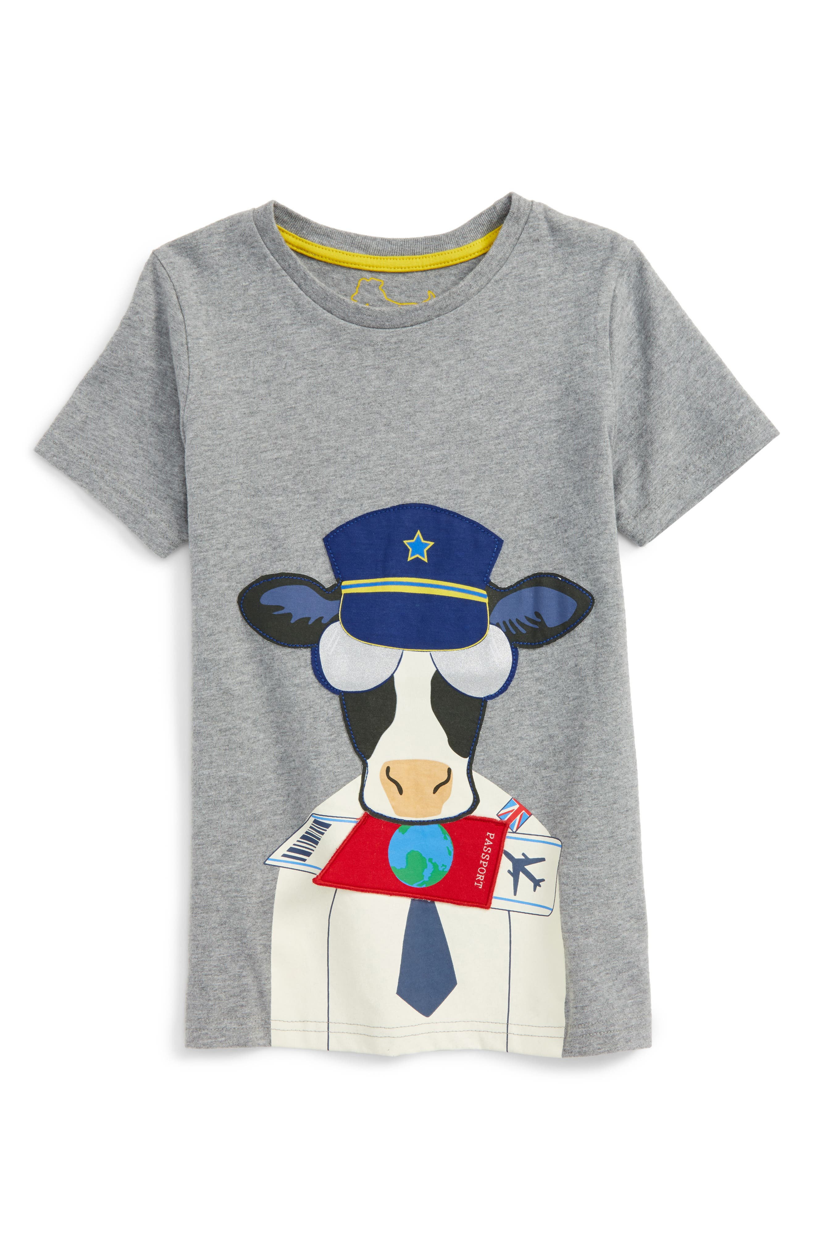 Mini Boden Animal Appliqué T-Shirt (Toddler Boys, Little Boys & Big Boys)