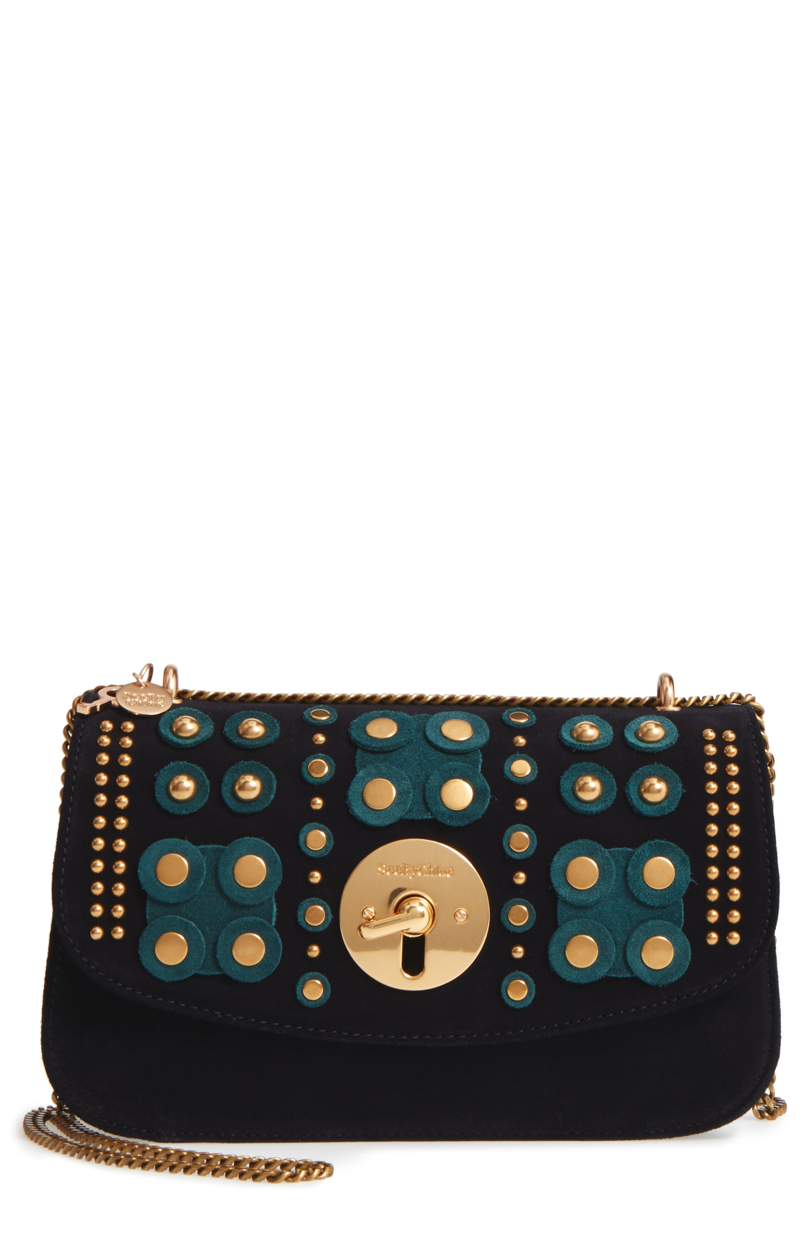 See by Chloé Embellished Leather Shoulder Bag