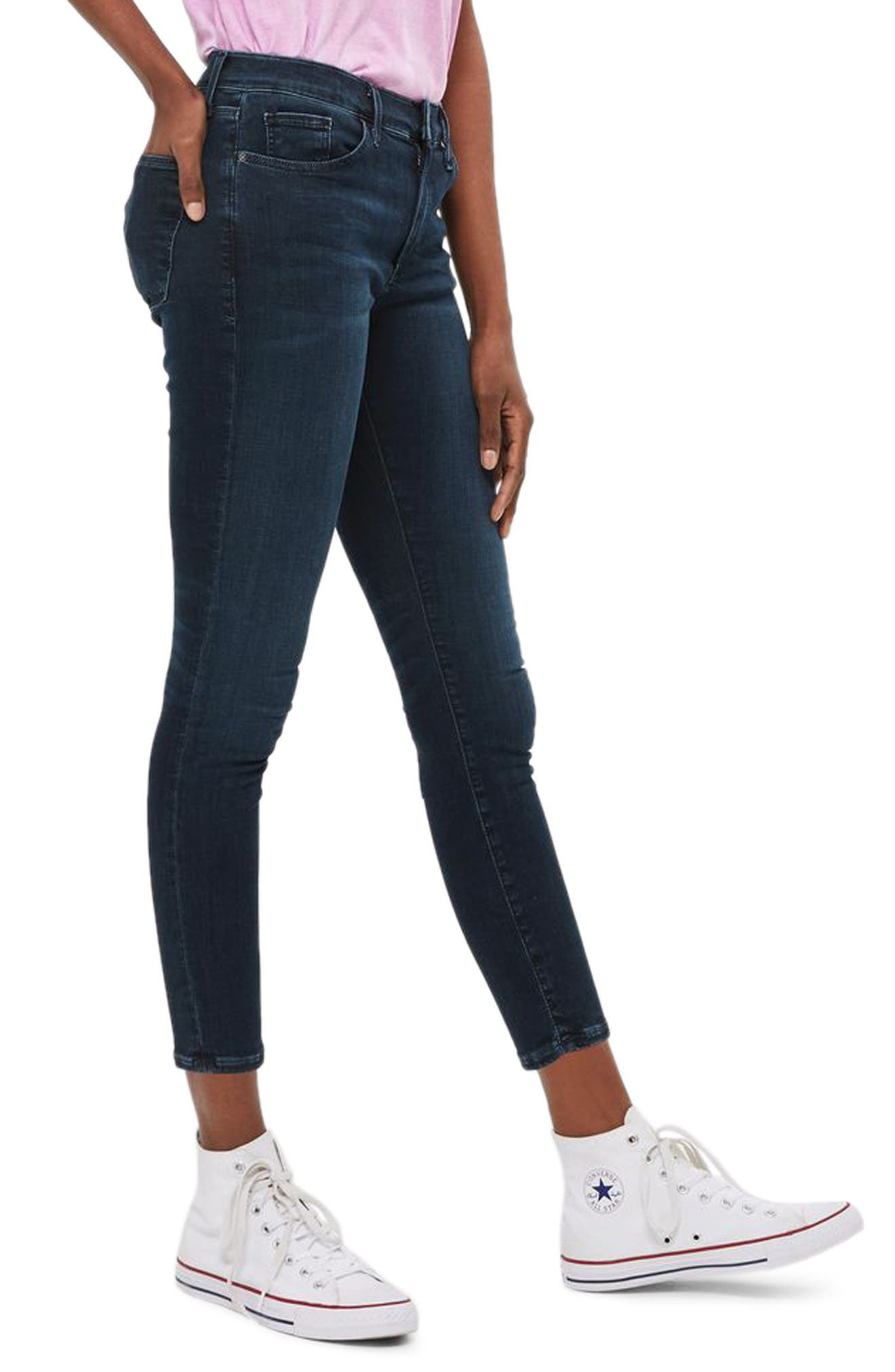 Topshop Sidney Skinny Ankle Jeans (Petite)