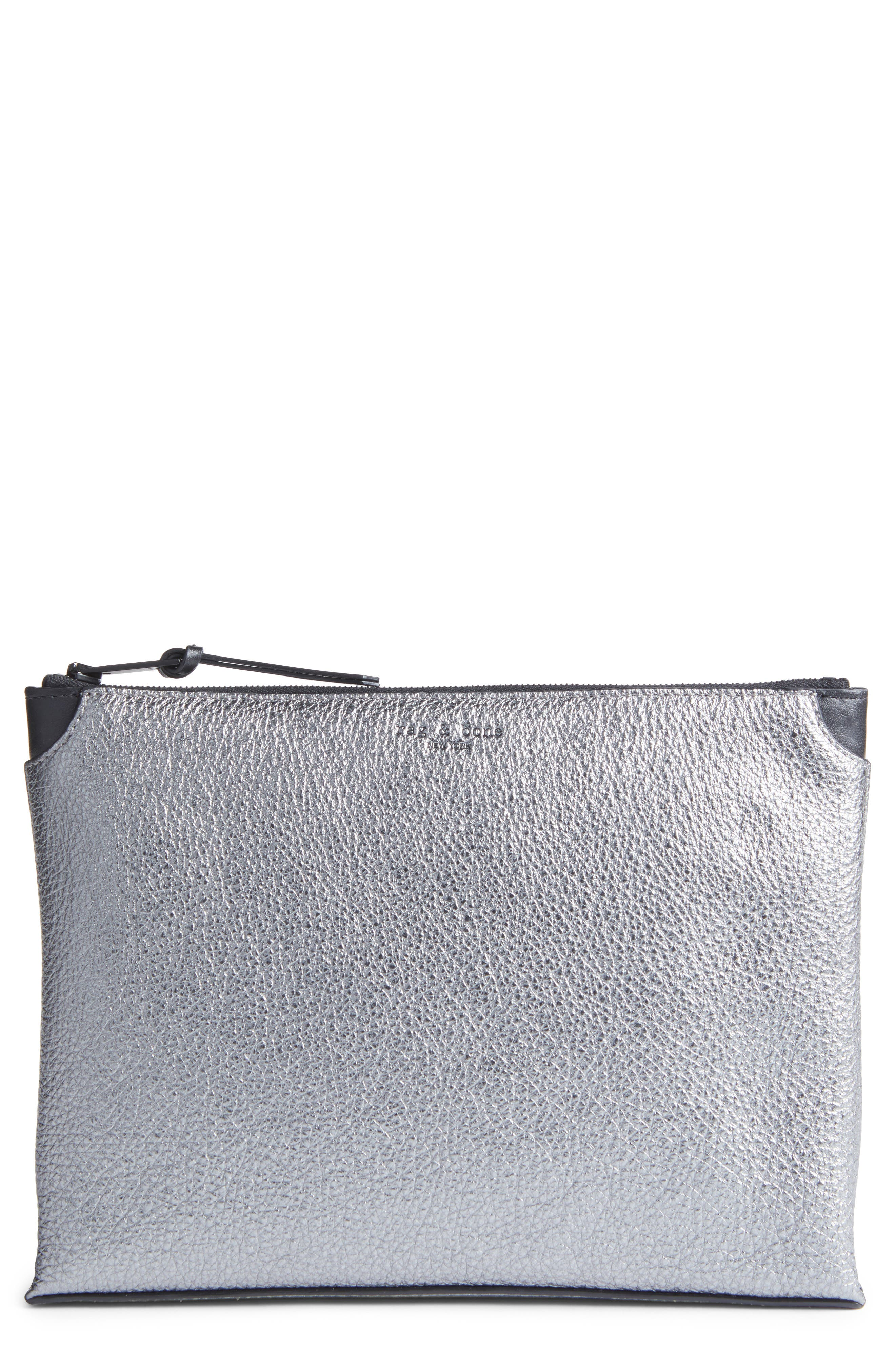 rag & bone Medium Buffalo Leather Pouch