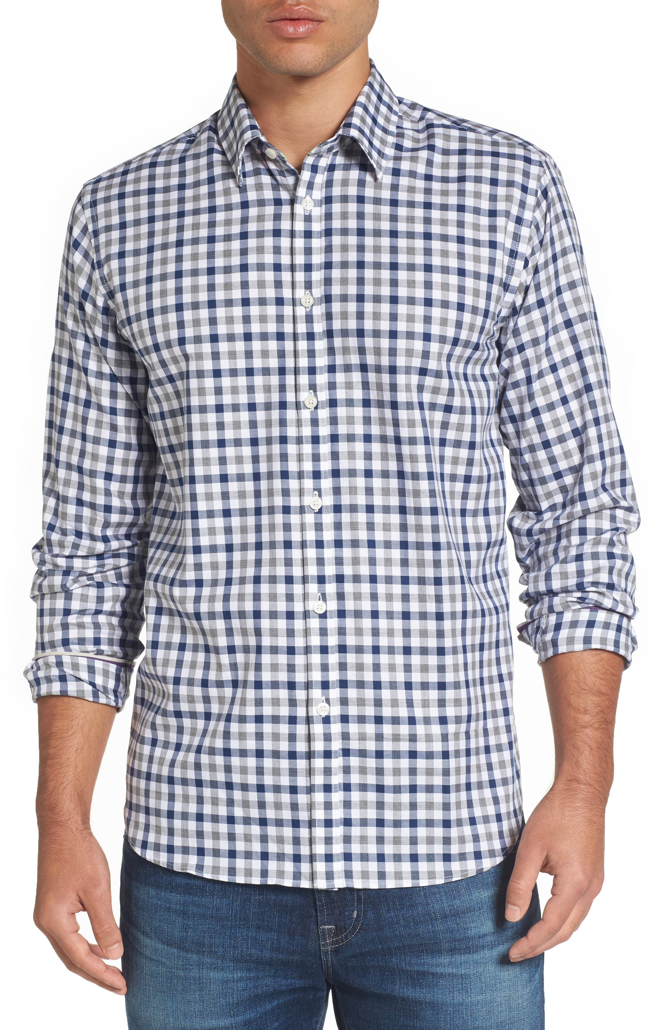 Jeremy Argyle Fitted Check Sport Shirt