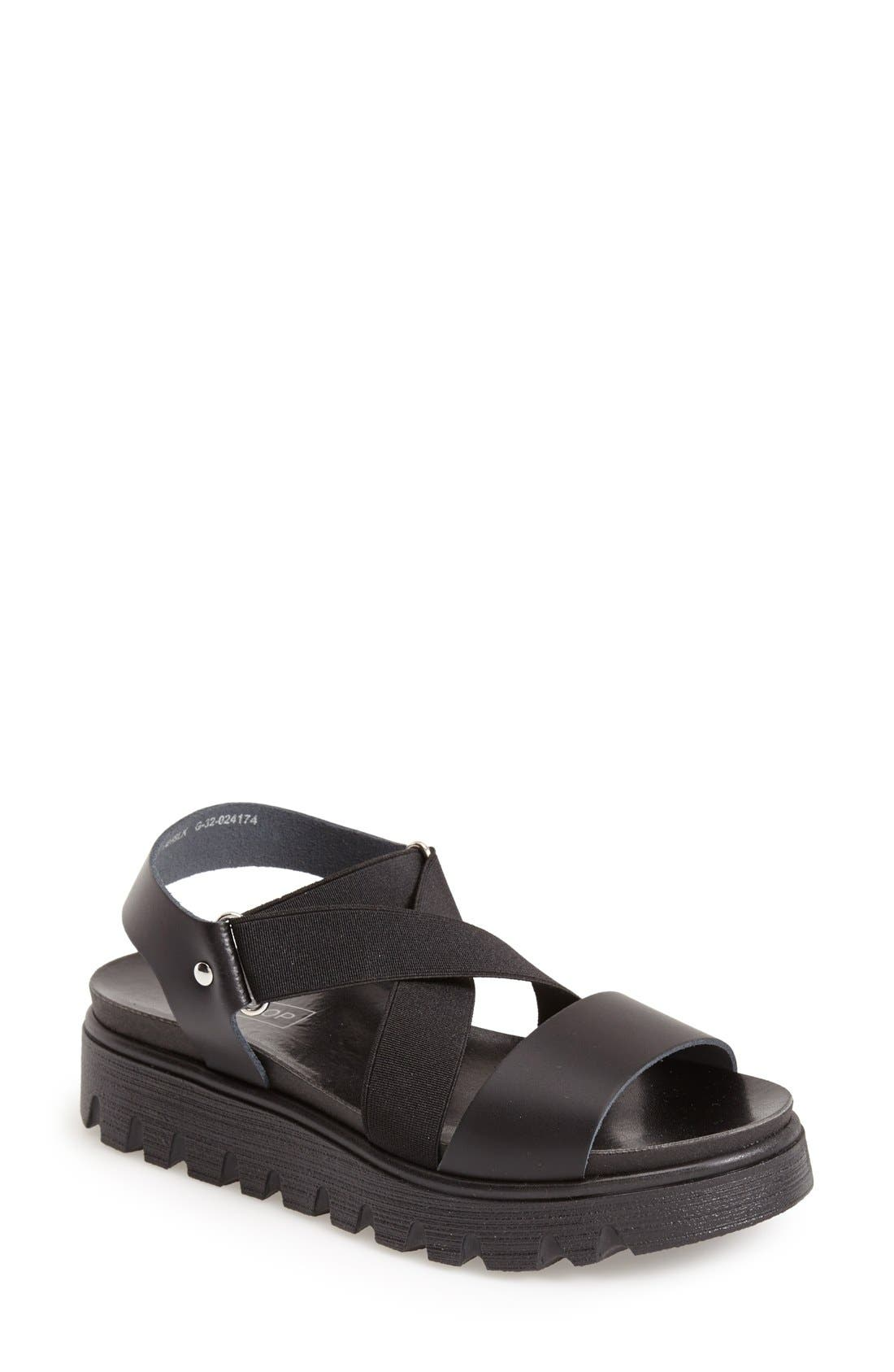 Main Image - Topshop 'Folly' Strappy Platform Sandal (Women)