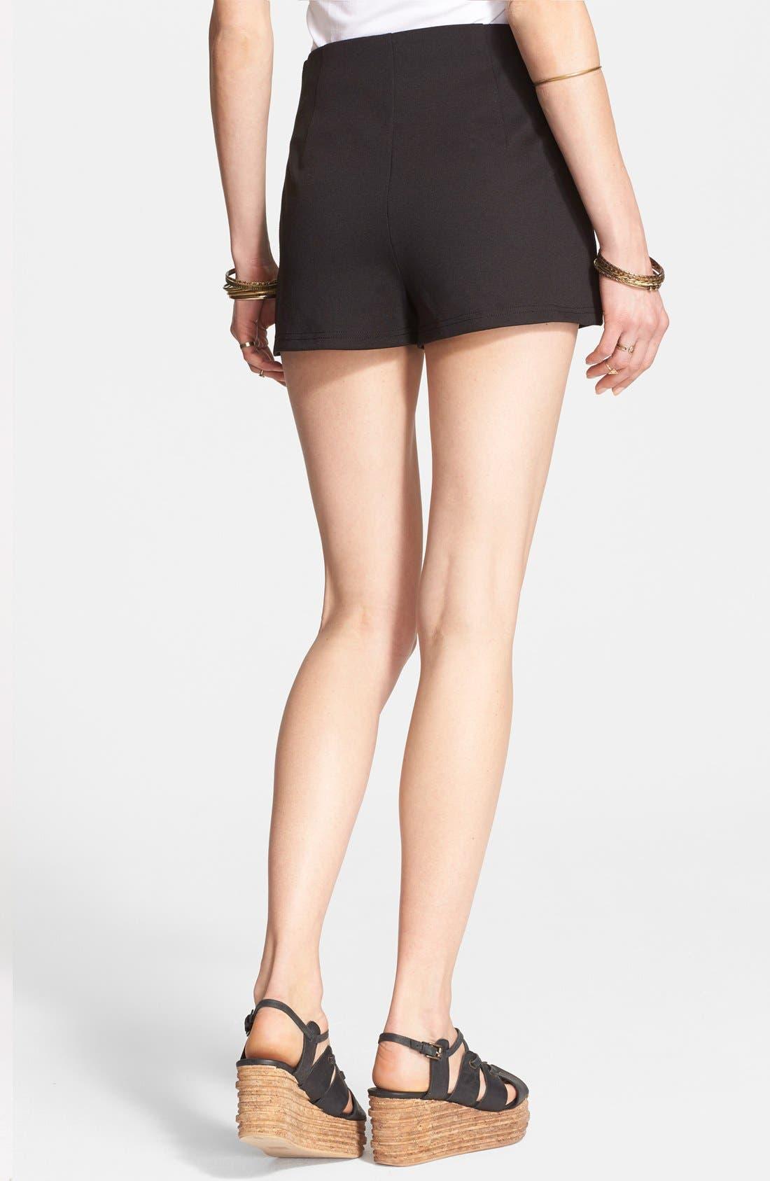 Alternate Image 2  - Free People High Rise Ponte Shorts