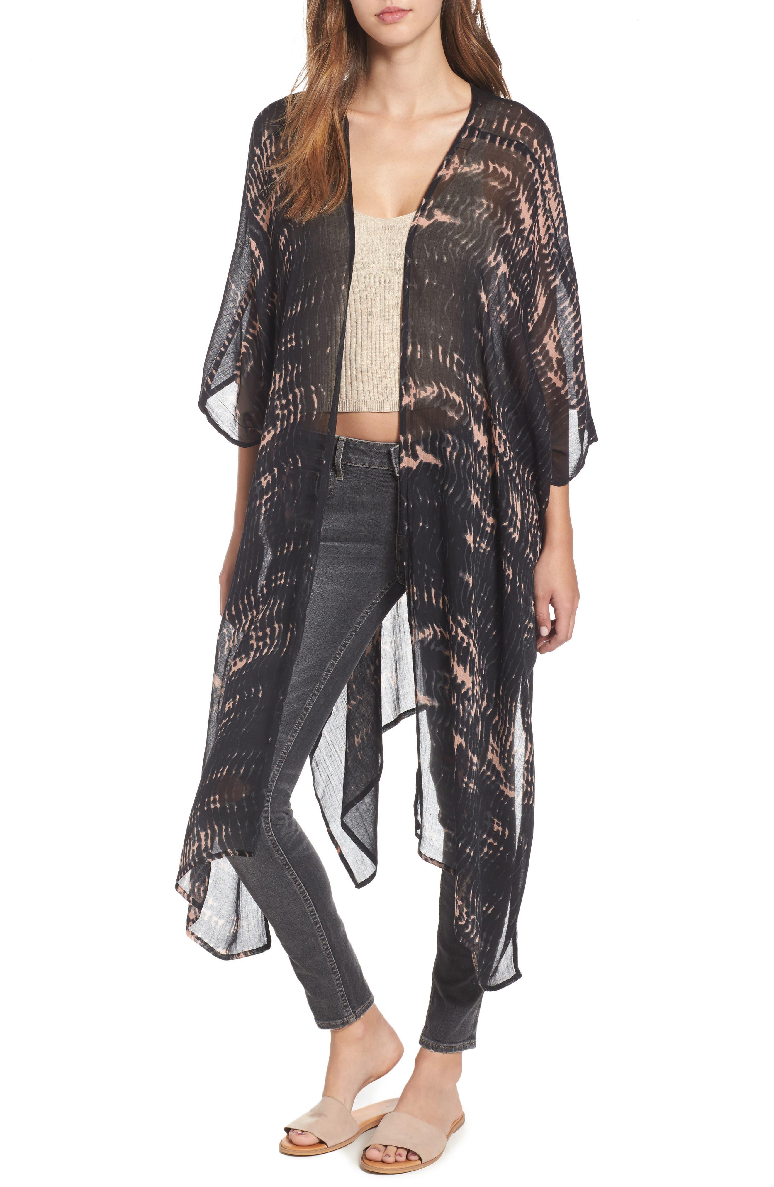 Sole Society Sheer Shibori Kimono