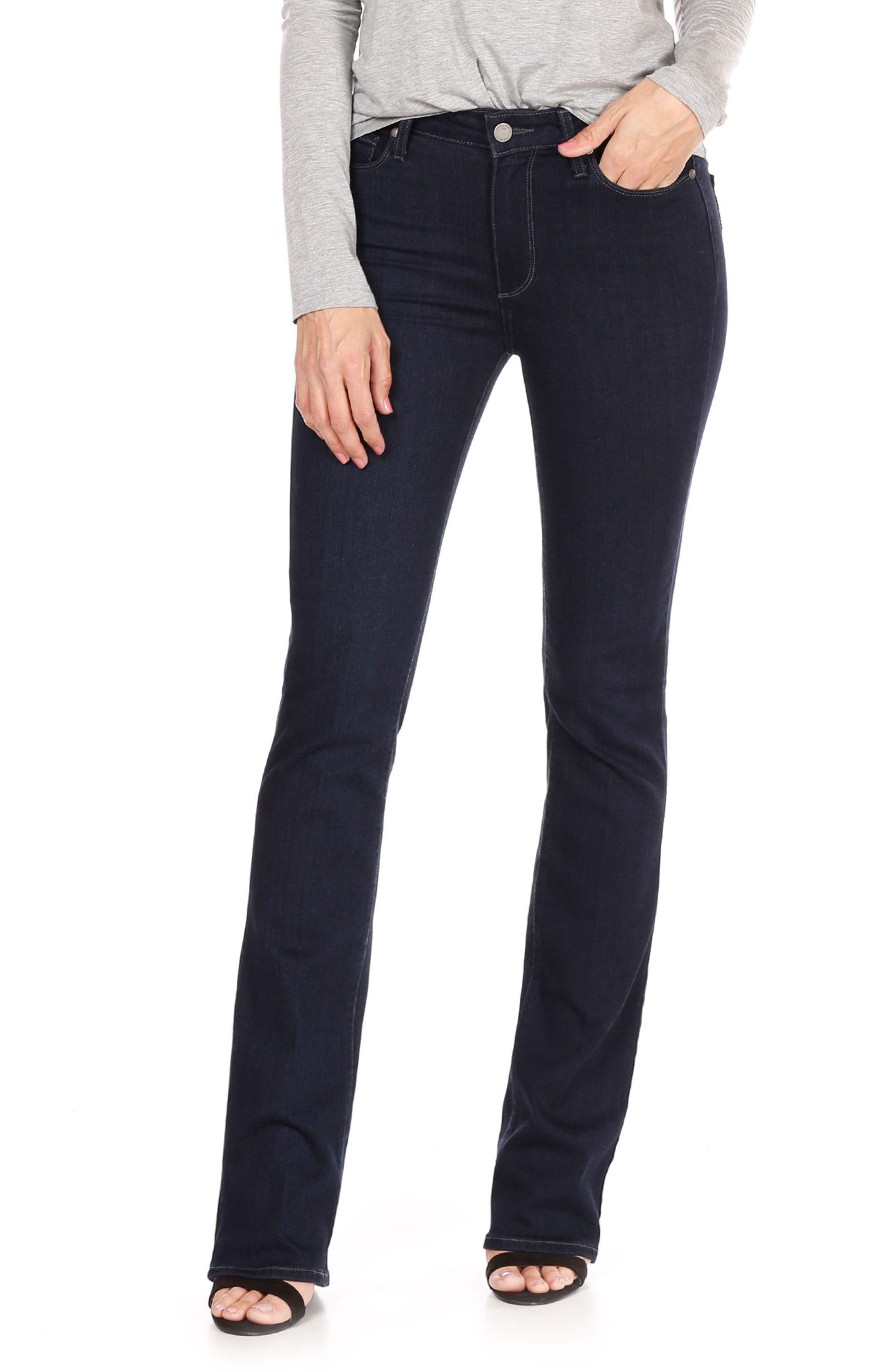 PAIGE Transcend - Manhattan High Waist Bootcut Jeans (Dalton) (Petite)