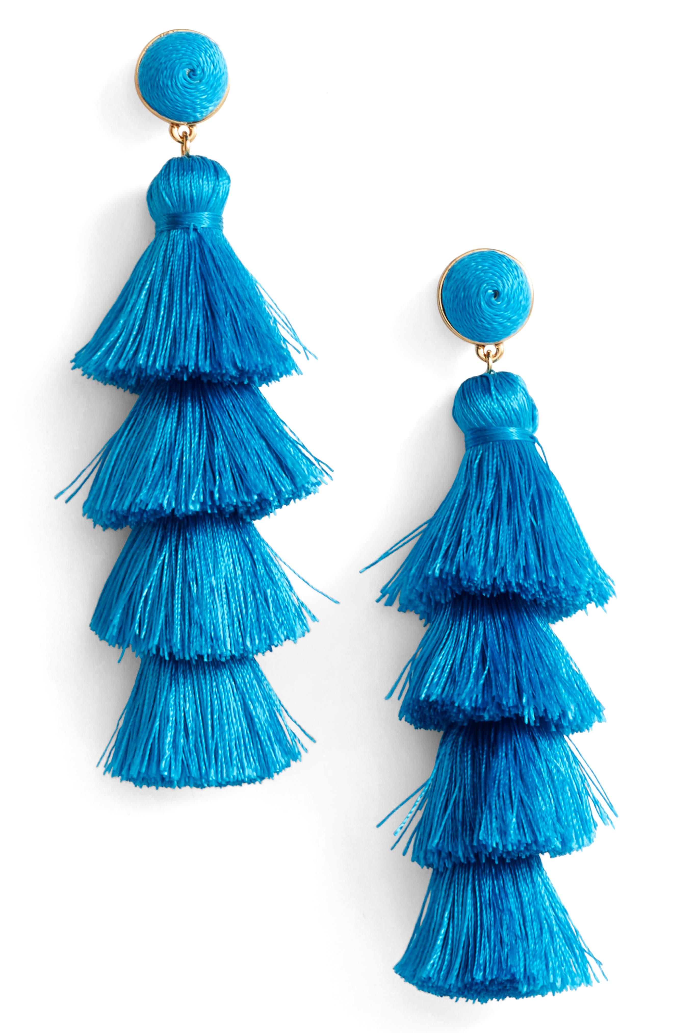 BaubleBar Antonella Tassel Fringe Earrings