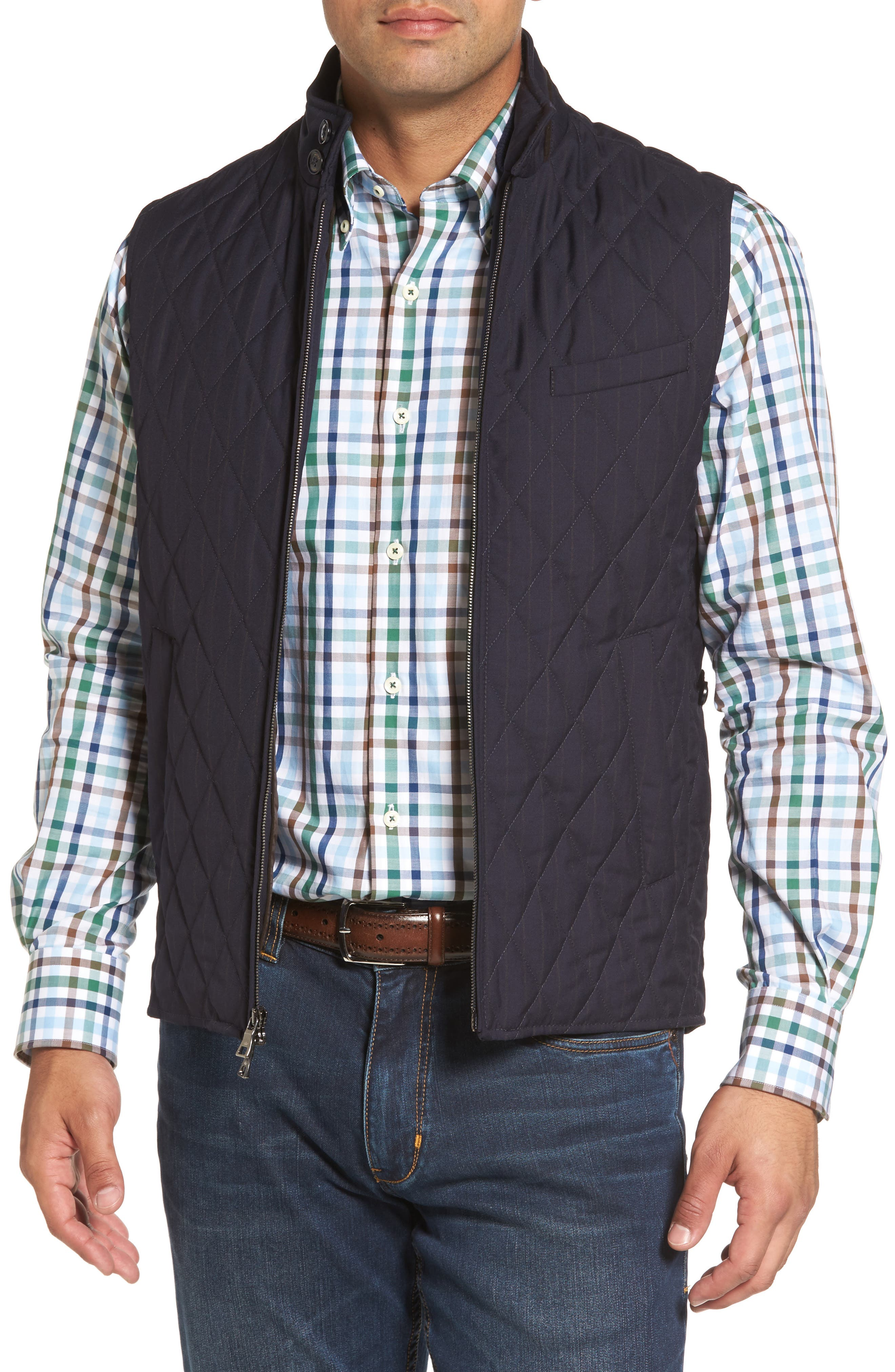 Peter Millar Caledonia Quilted Wool Vest