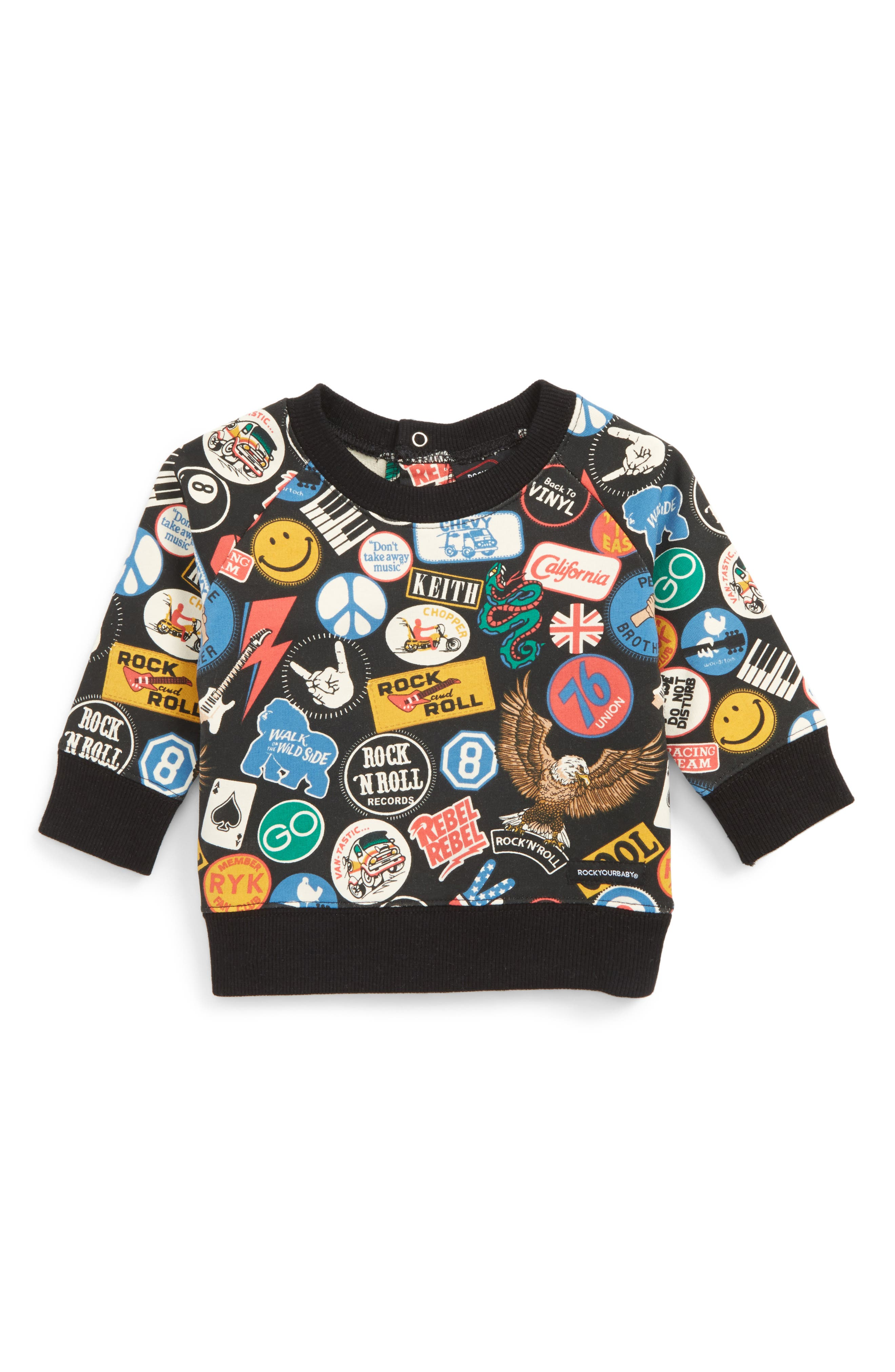 Rock Your Baby Vintage Patches Sweatshirt (Baby Boys)