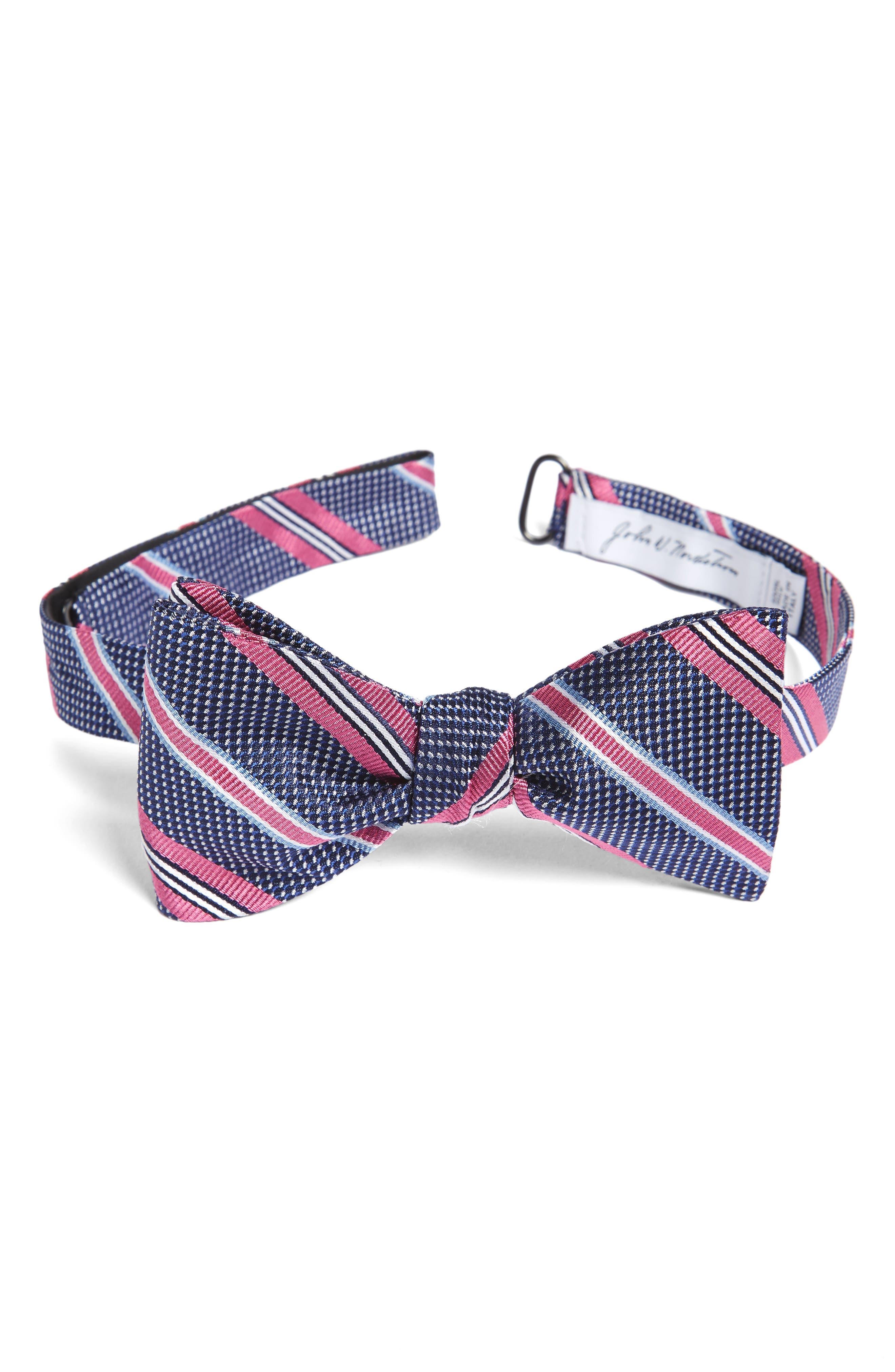 John W. Nordstrom® Dotted Stripe Silk Bow Tie