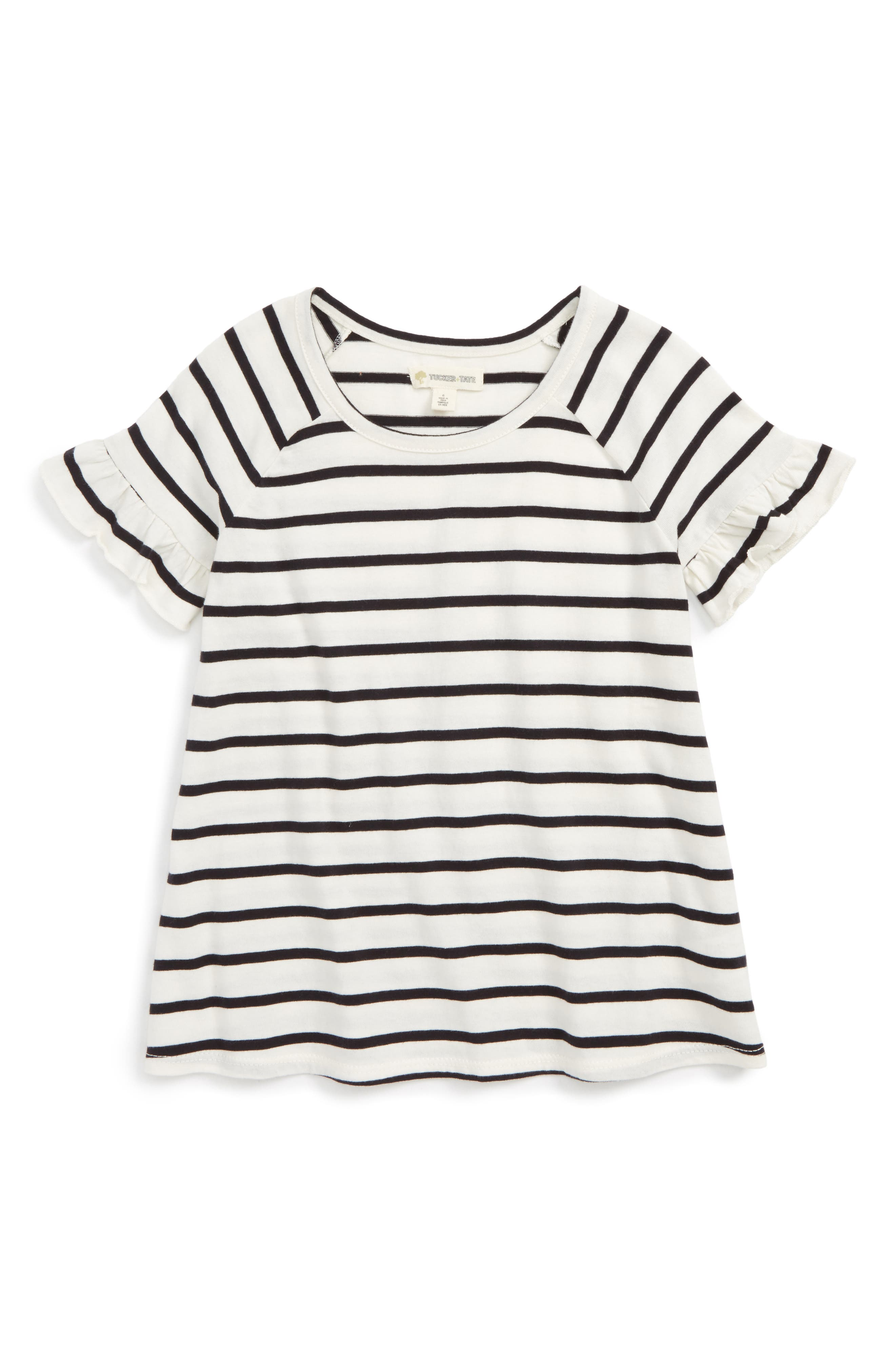 Tucker + Tate Easy Ruffle Tee (Toddler Girls, Little Girls & Big Girls)