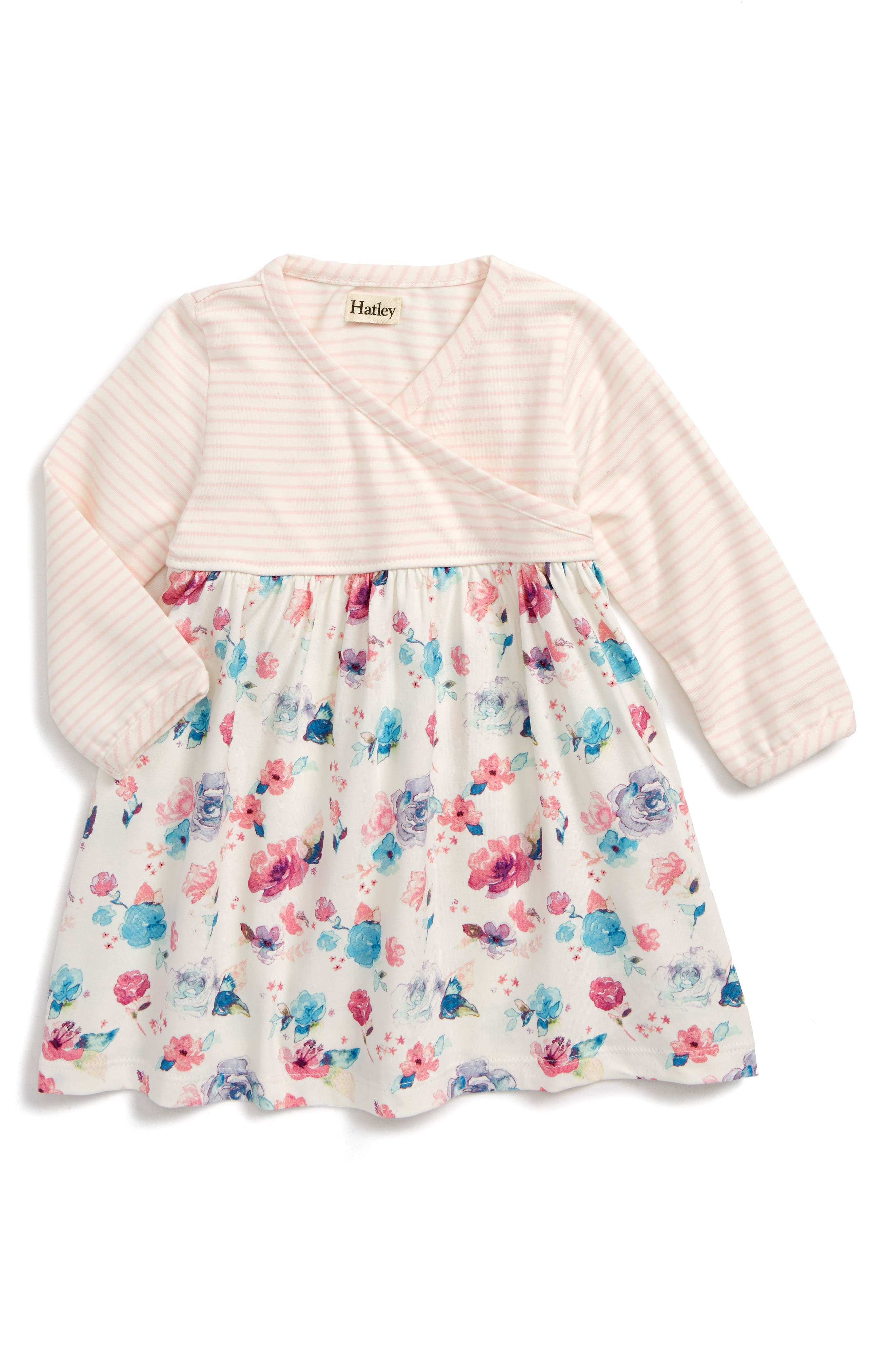Hatley Print Wrap Dress (Baby Girls)