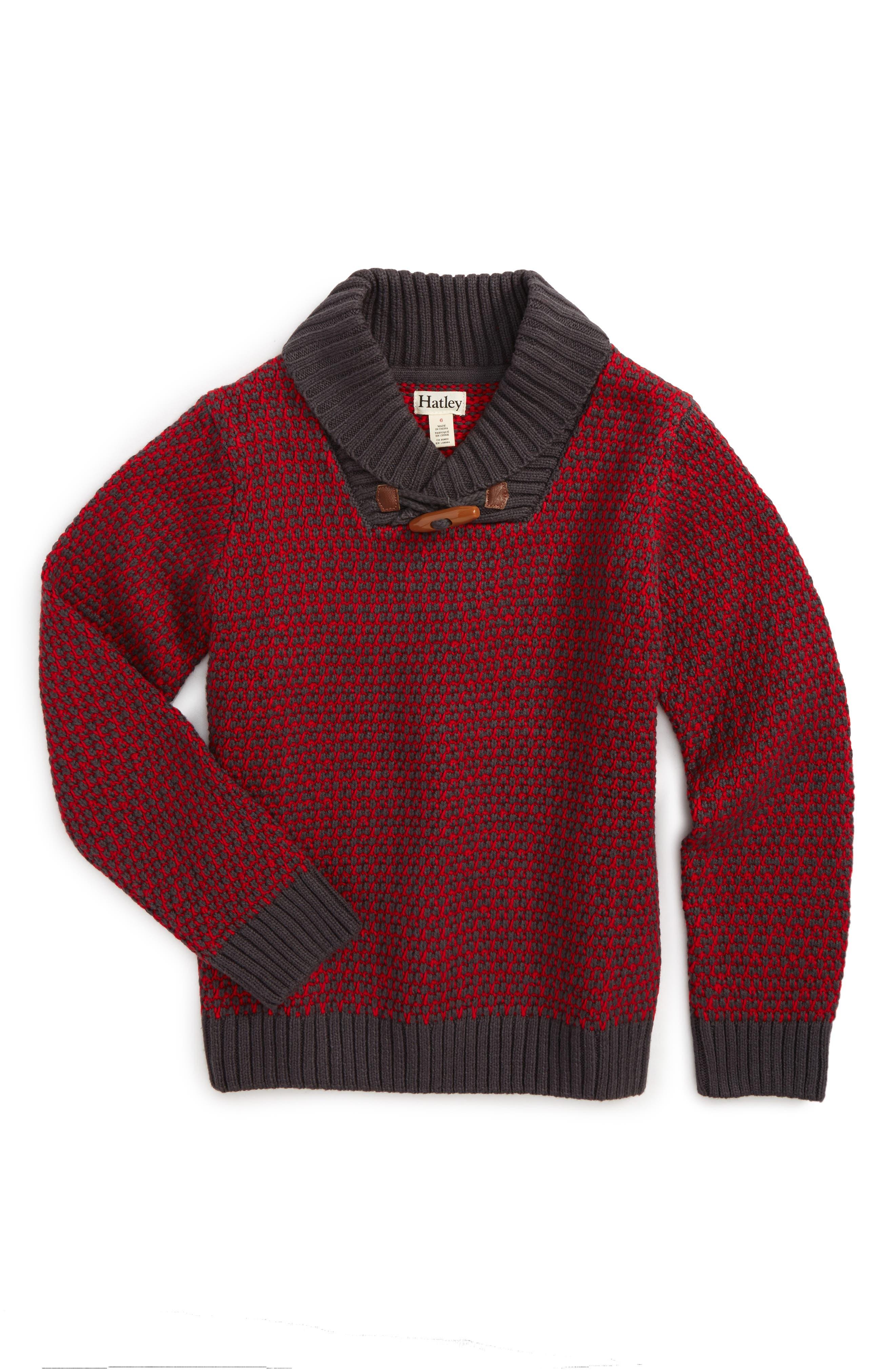 Hatley Toggle Knit Sweater (Toddler Boys, Little Boys & Big Boys)