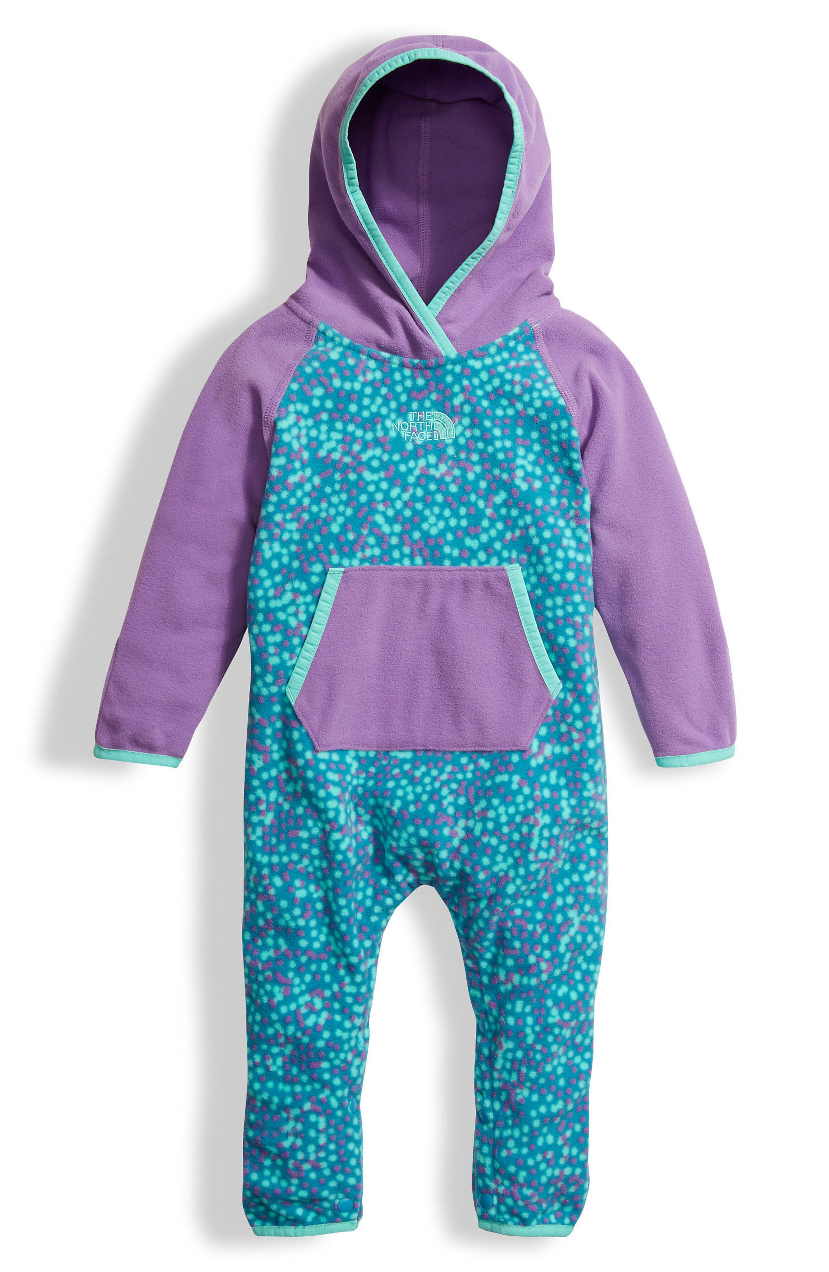 The North Face Glacier Hooded Romper (Baby Girls)