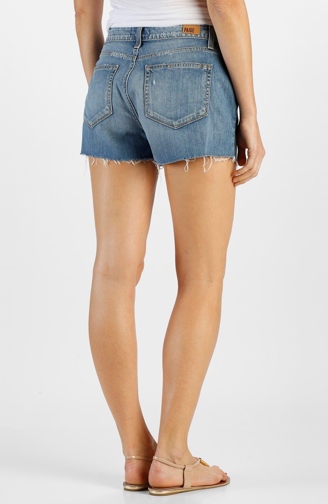 Alternate Image 2  - Paige Denim 'Callie' High Rise Cutoff Denim Shorts (Tomlin)