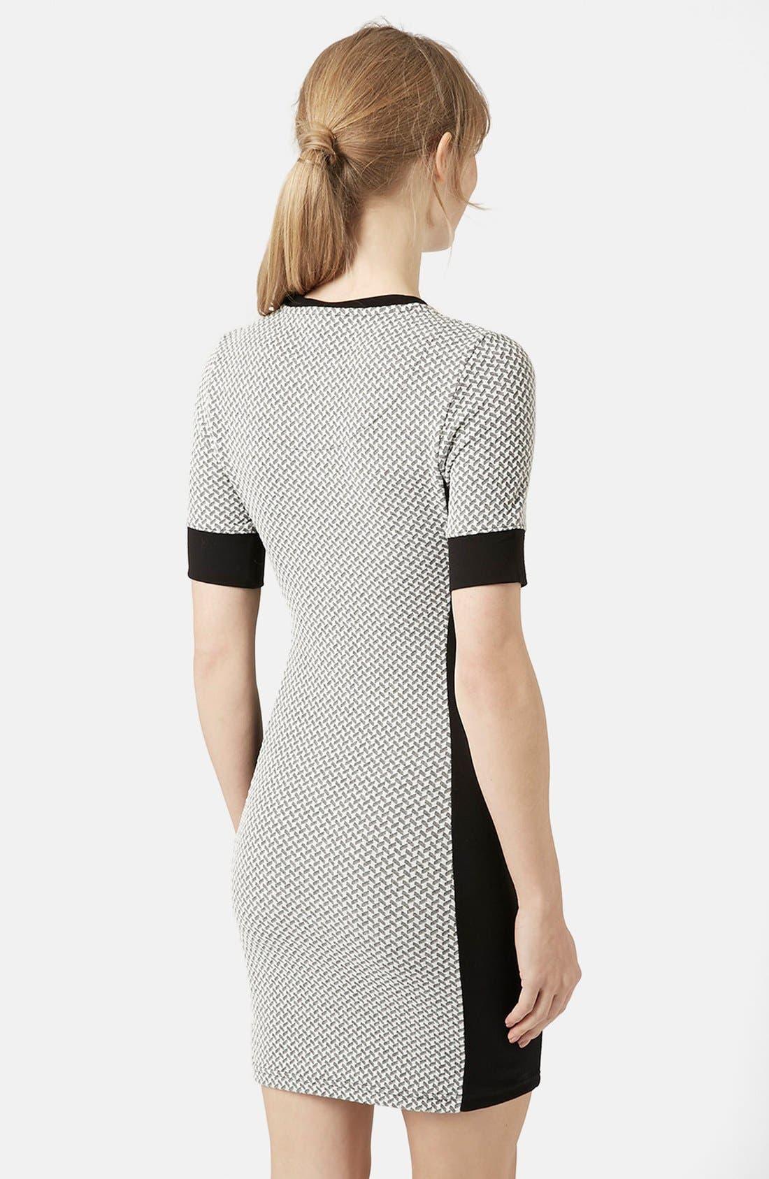 Alternate Image 2  - Topshop Geometric Print Body-Con Dress (Regular & Petite)
