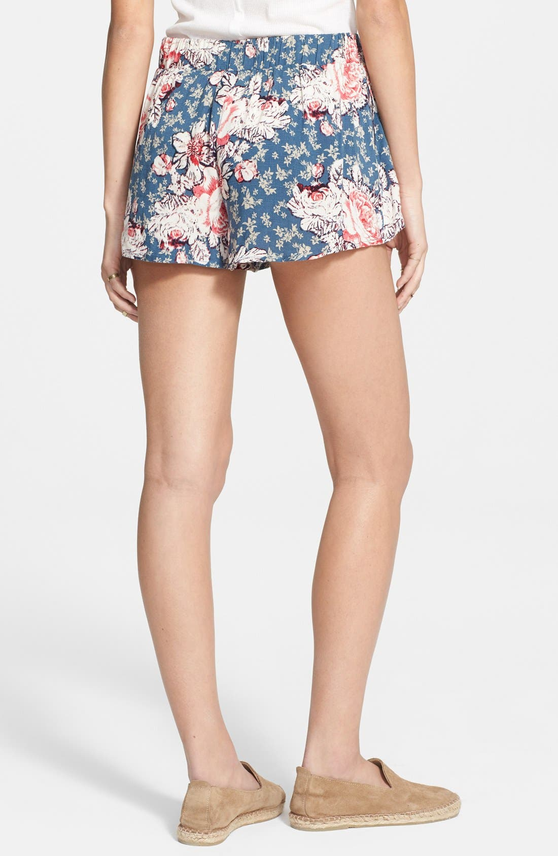 Alternate Image 2  - Free People 'Extreme Crossover' Floral Print Shorts
