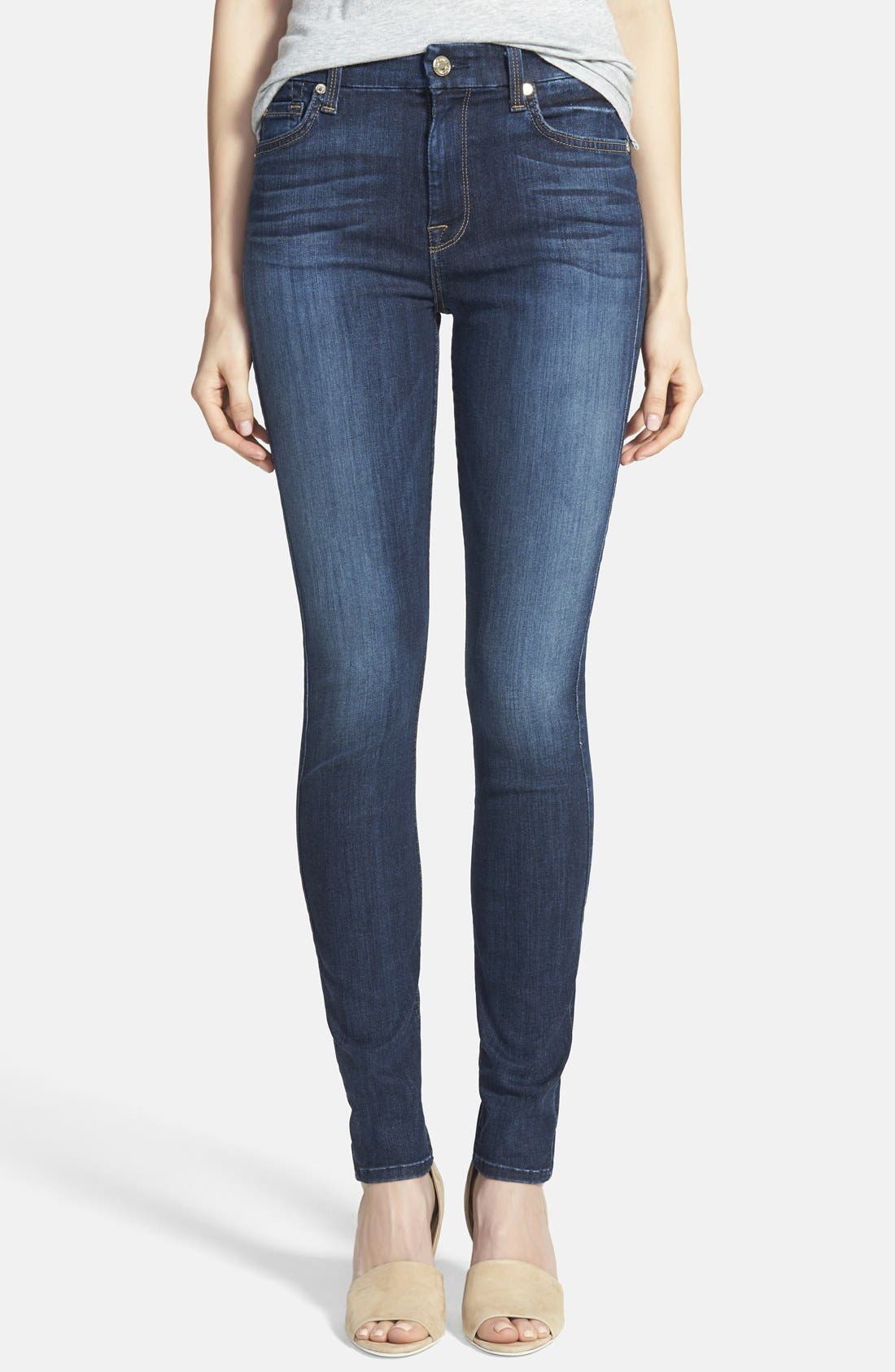 Alternate Image 1  - 7 For All Mankind® 'The High Waisted Skinny' Jeans