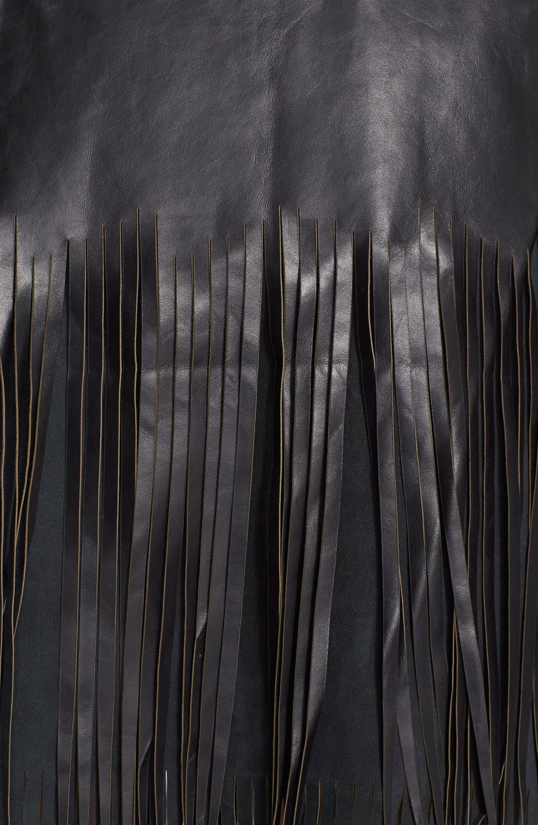Alternate Image 3  - BLK DNM 'Leather Skirt 40' Fringe Miniskirt