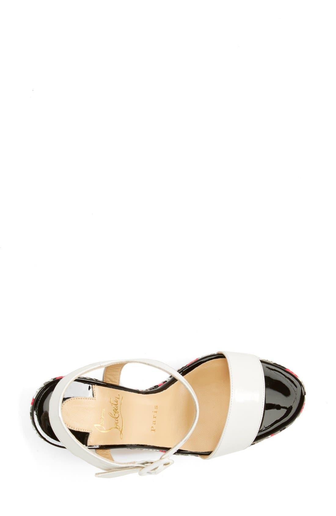 Alternate Image 3  - Christian Louboutin 'Bella' Plaid Platform Sandal