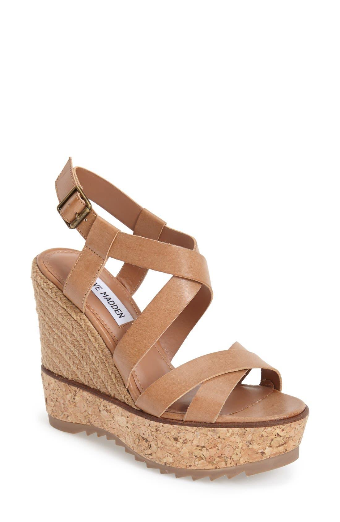 Alternate Image 1 Selected - Steve Madden 'Elllaa' Strappy Wedge Sandal (Women)