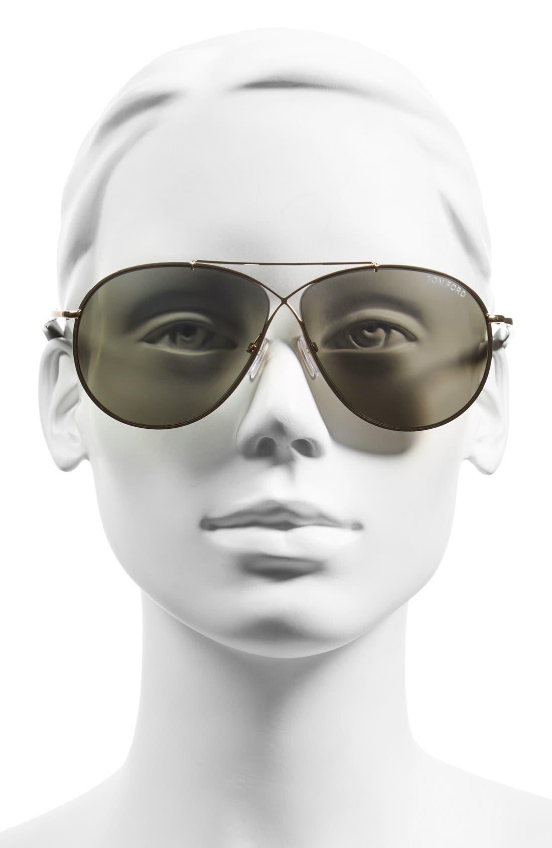 Alternate Image 2  - Tom Ford 'Eva' 61mm Aviator Sunglasses