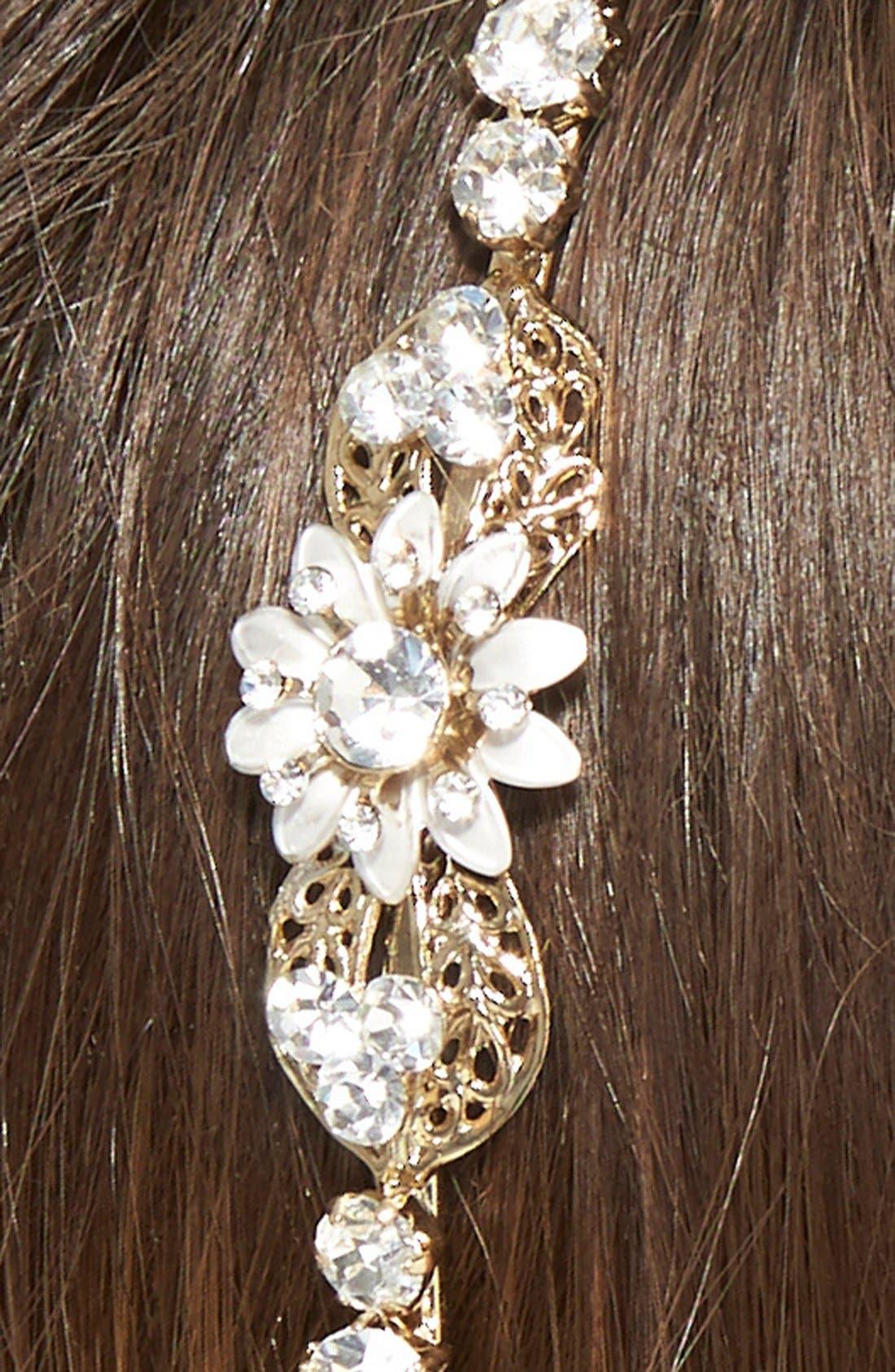 Alternate Image 2  - Wedding Belles New York Crystal Floral Headband