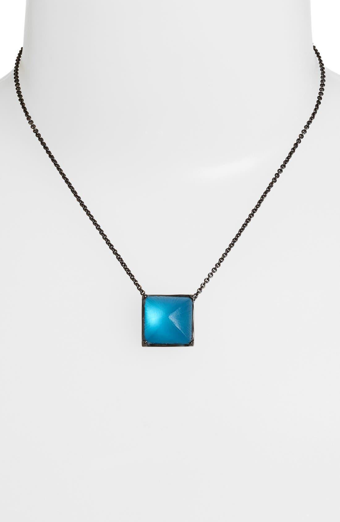Main Image - Alexis Bittar 'Lucite® - Santa Fe Deco' Pyramid Pendant Necklace