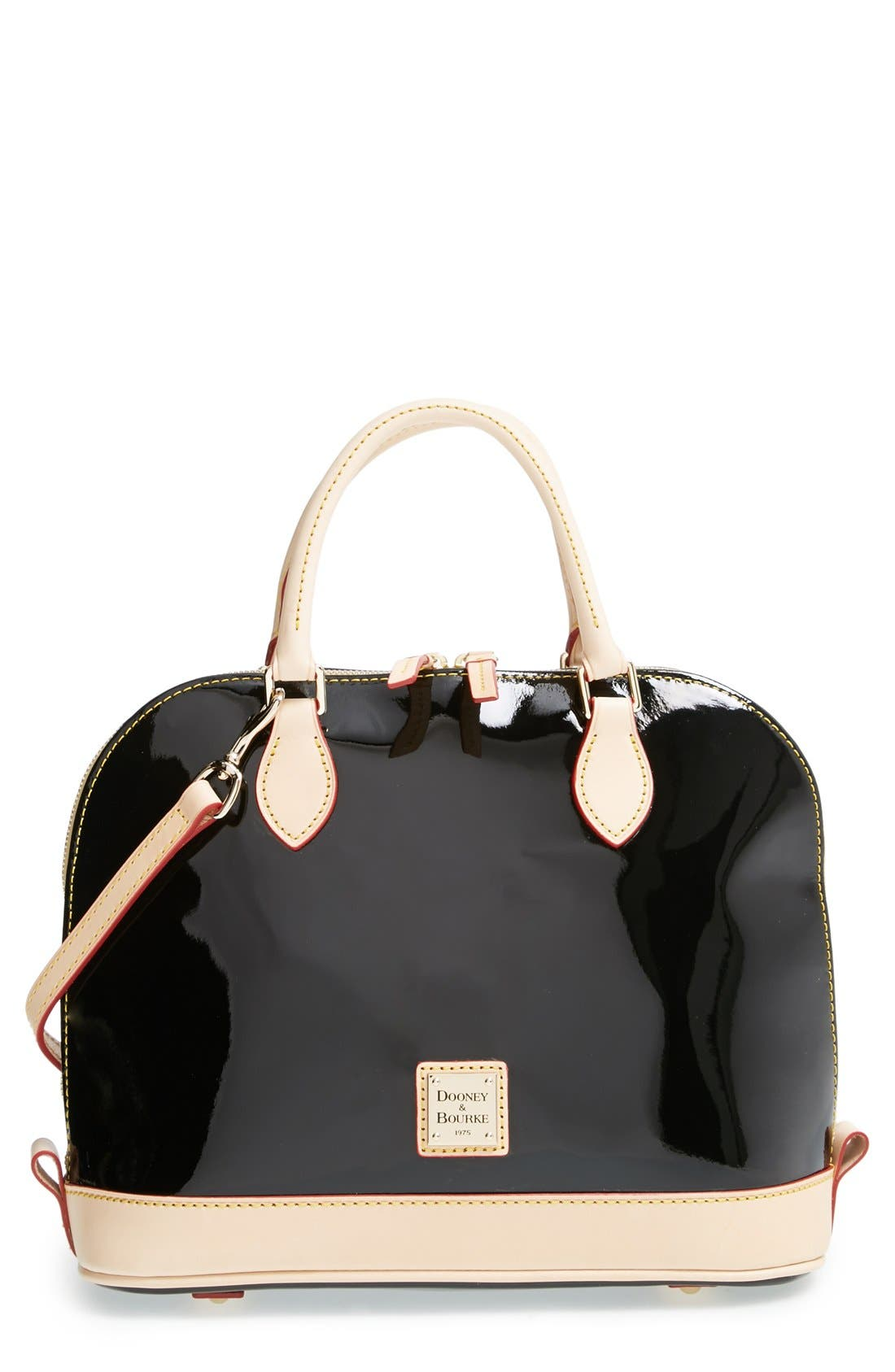 Alternate Image 1 Selected - Dooney & Bourke Patent Leather Satchel