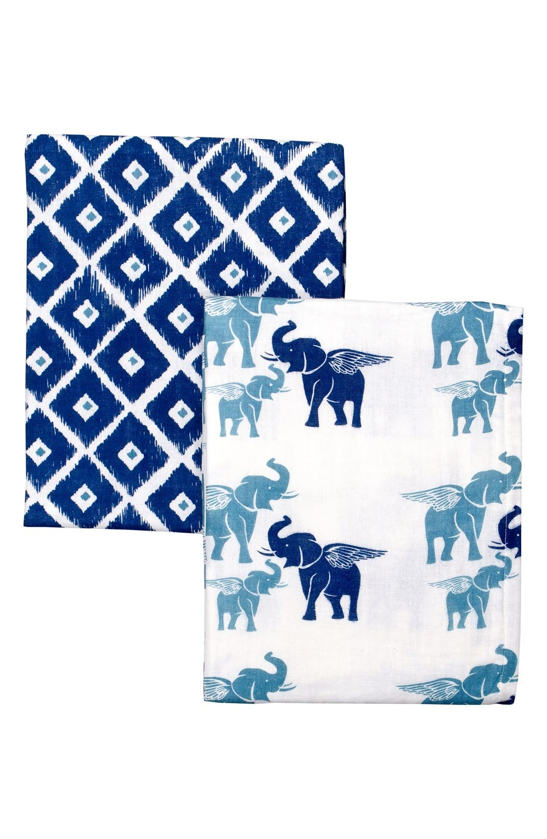 Main Image - Masalababy Double Weave Cotton Muslin Swaddle Wraps (2-Pack)