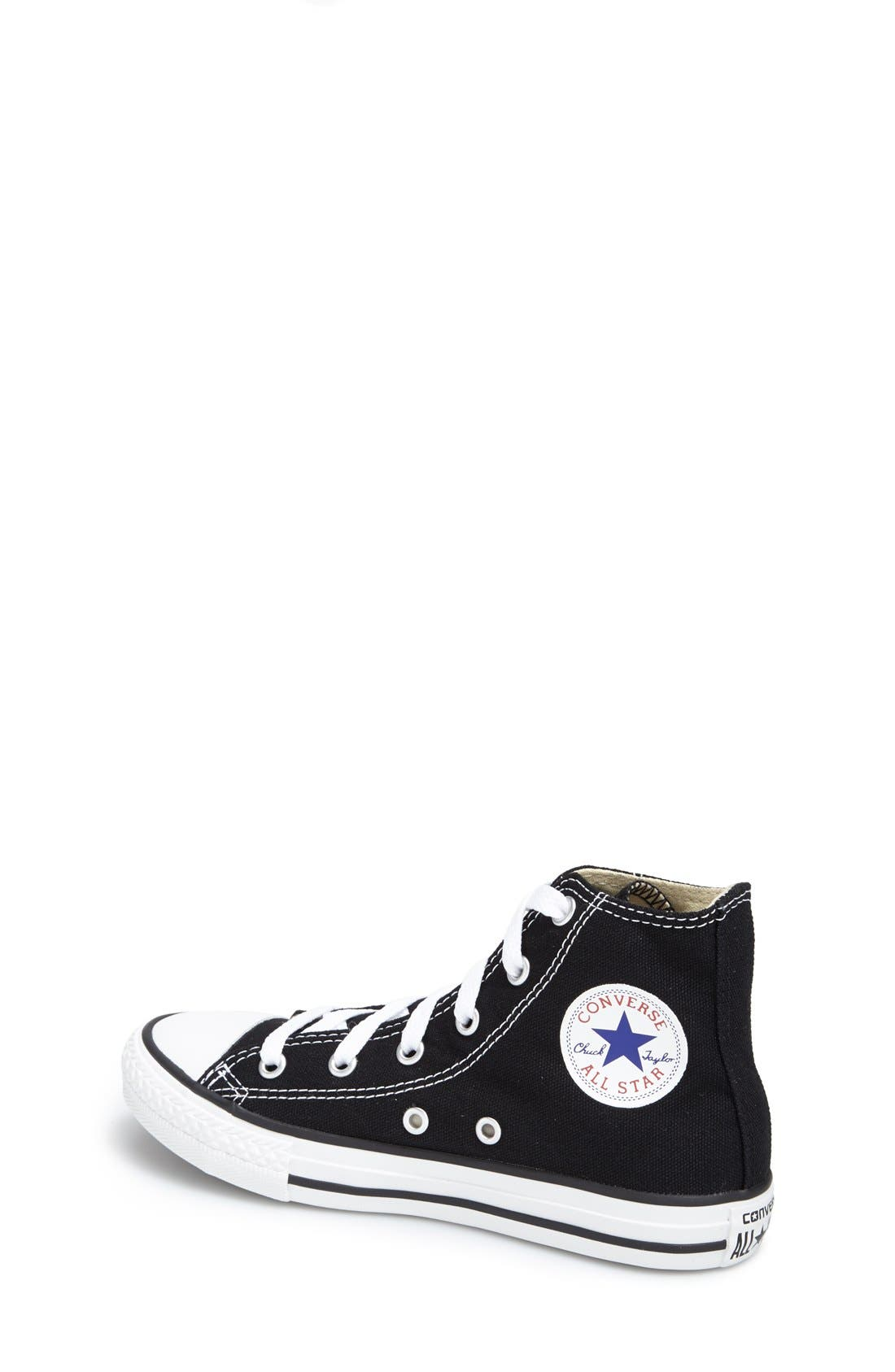 Alternate Image 2  - Converse Chuck Taylor® High Top Sneaker (Toddler, Little Kid & Big Kid)