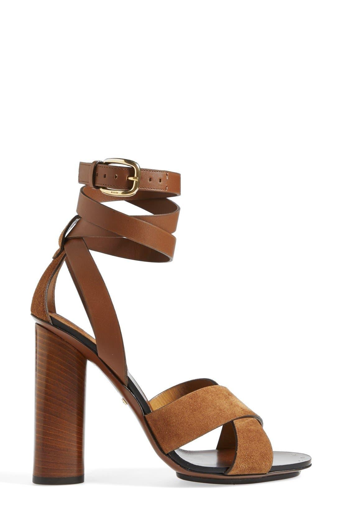 Alternate Image 4  - Gucci 'Candy' Ankle Strap Sandal (Women)