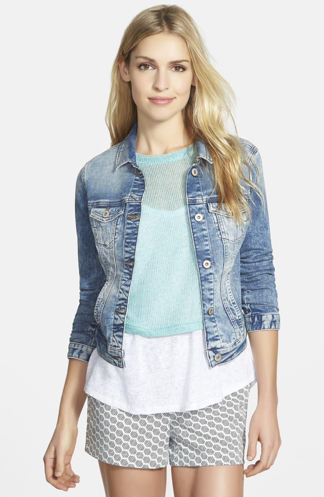 Alternate Image 1  - Mavi Jeans 'Samantha' Denim Jacket (Random Napoli)