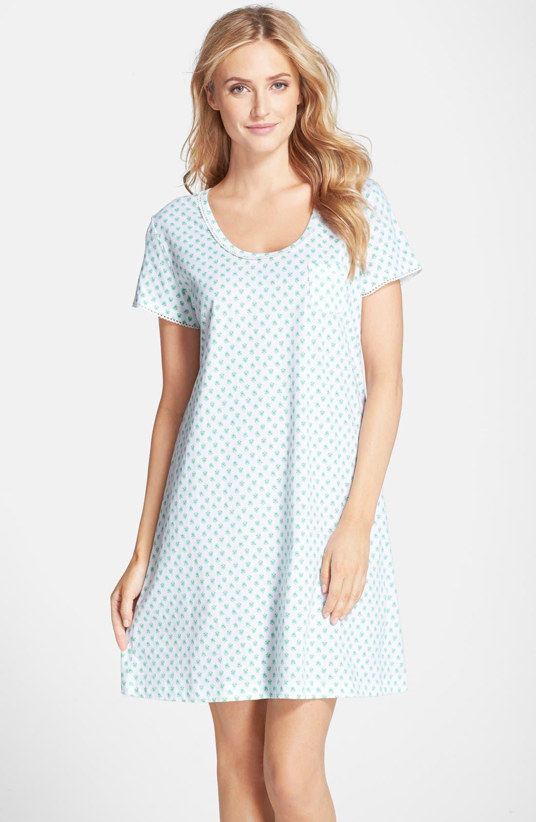 Alternate Image 1 Selected - Carole Hochman Designs Print Cotton Jersey Sleep Shirt