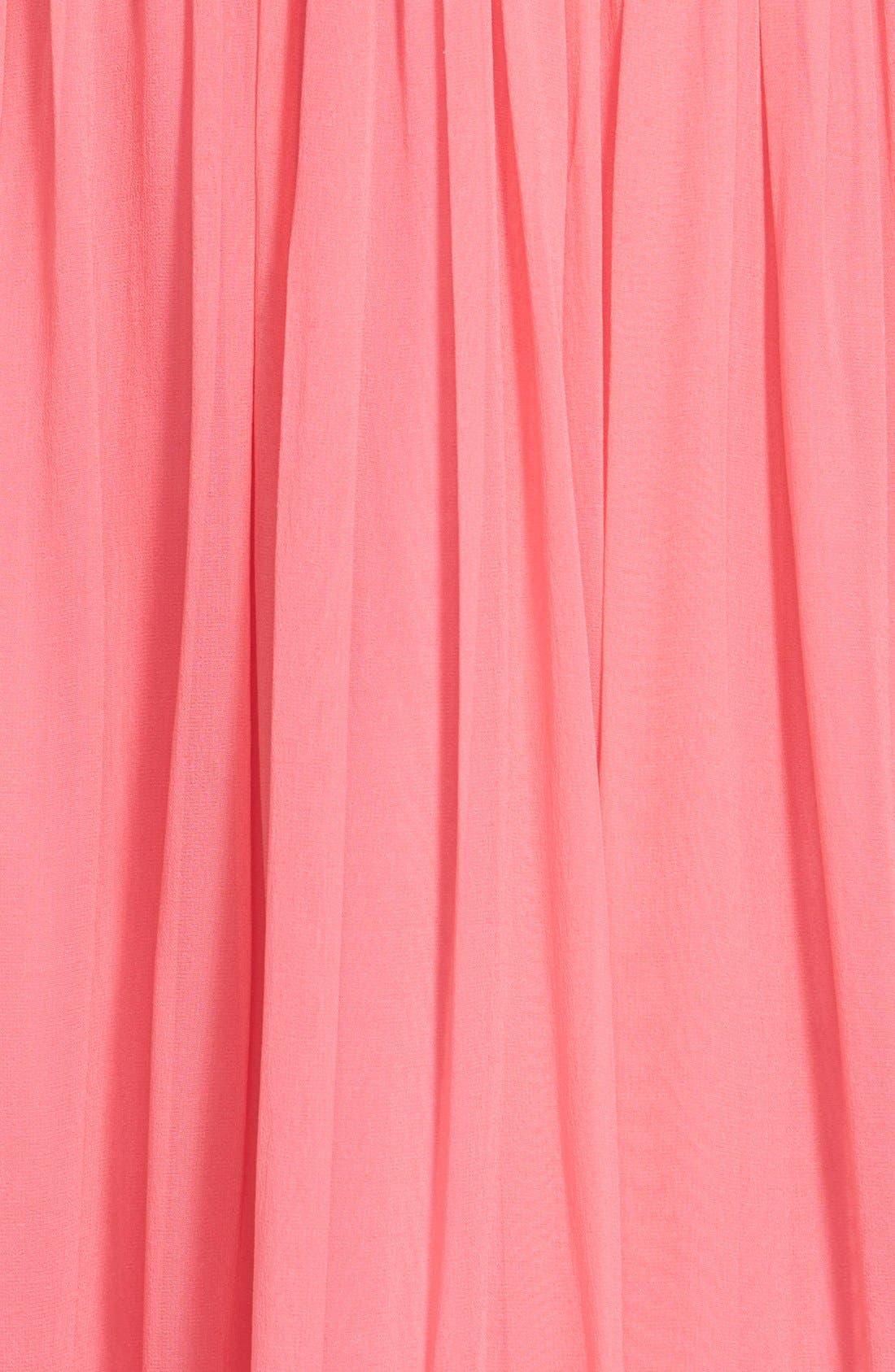 Alternate Image 3  - Aidan Mattox Silk Chiffon Gown