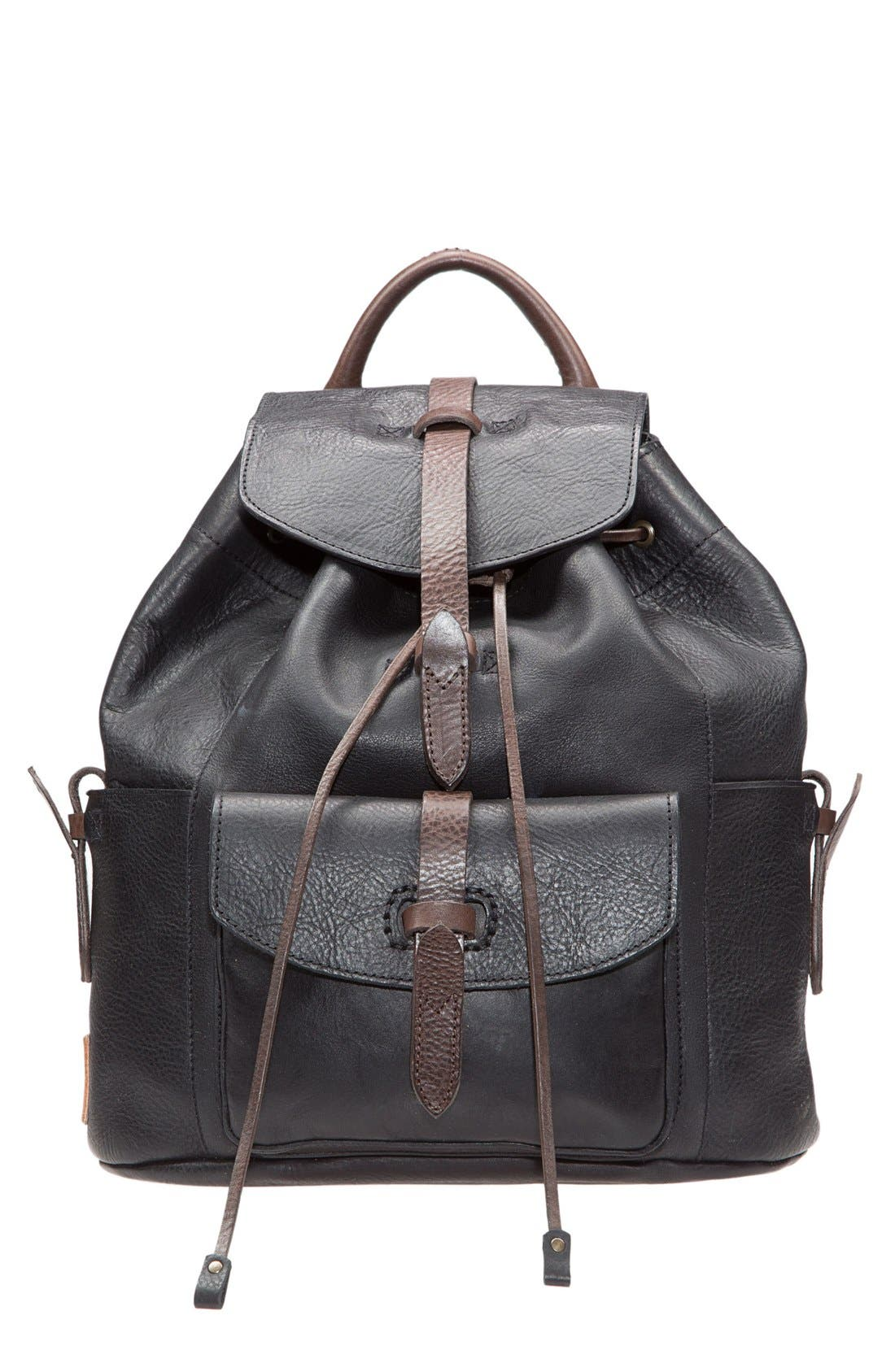 Alternate Image 1 Selected - Will Leather Goods 'Rainier' Leather Backpack