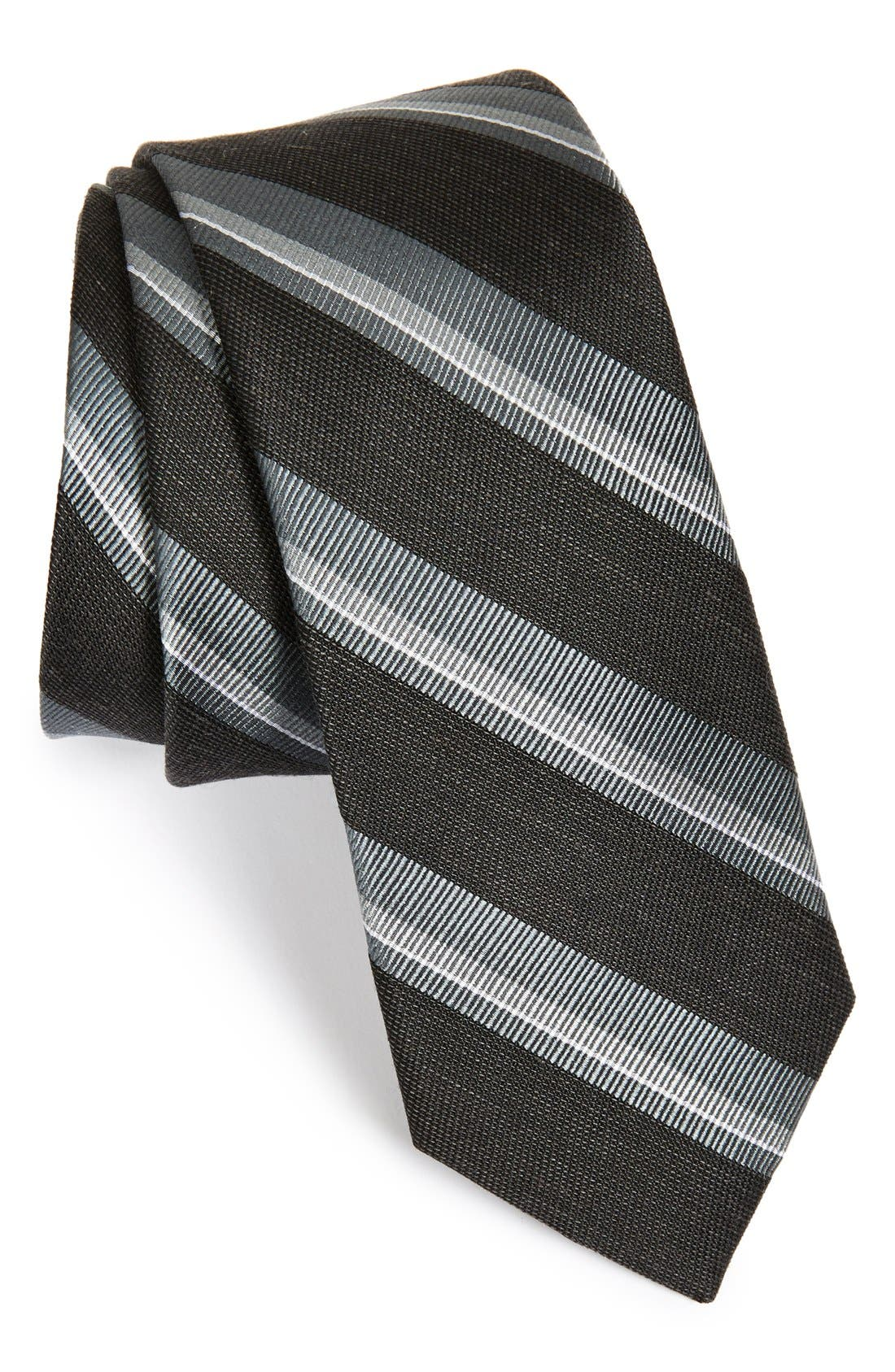 THE TIE BAR Stripe Silk Blend Tie